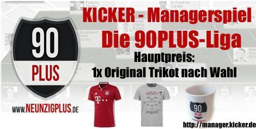 GEWINNSPIEL: Das große 90PLUS-Managerspiel zur Bundesligasaison 2016/17!