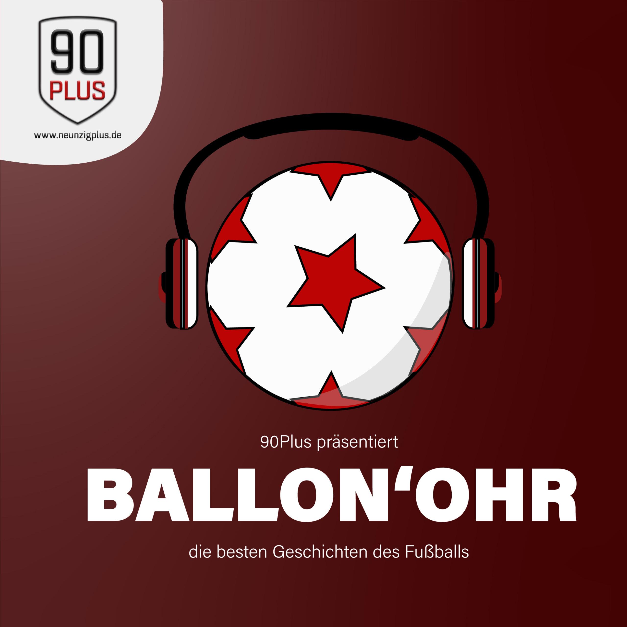 Ballon'Ohr Logo auf rotem Grund