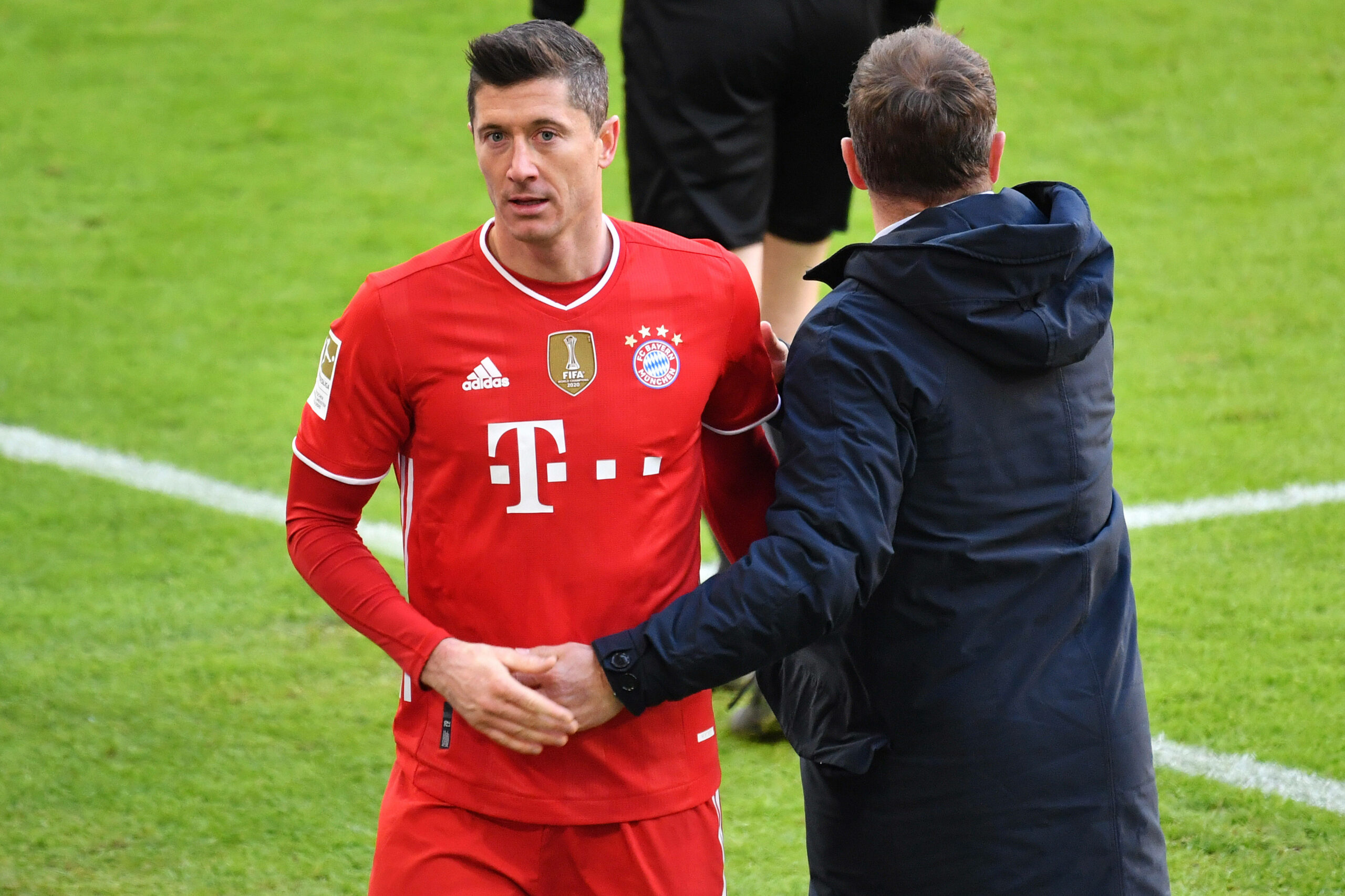Robert Lewandowski Hansi Flick (FC Bayern)