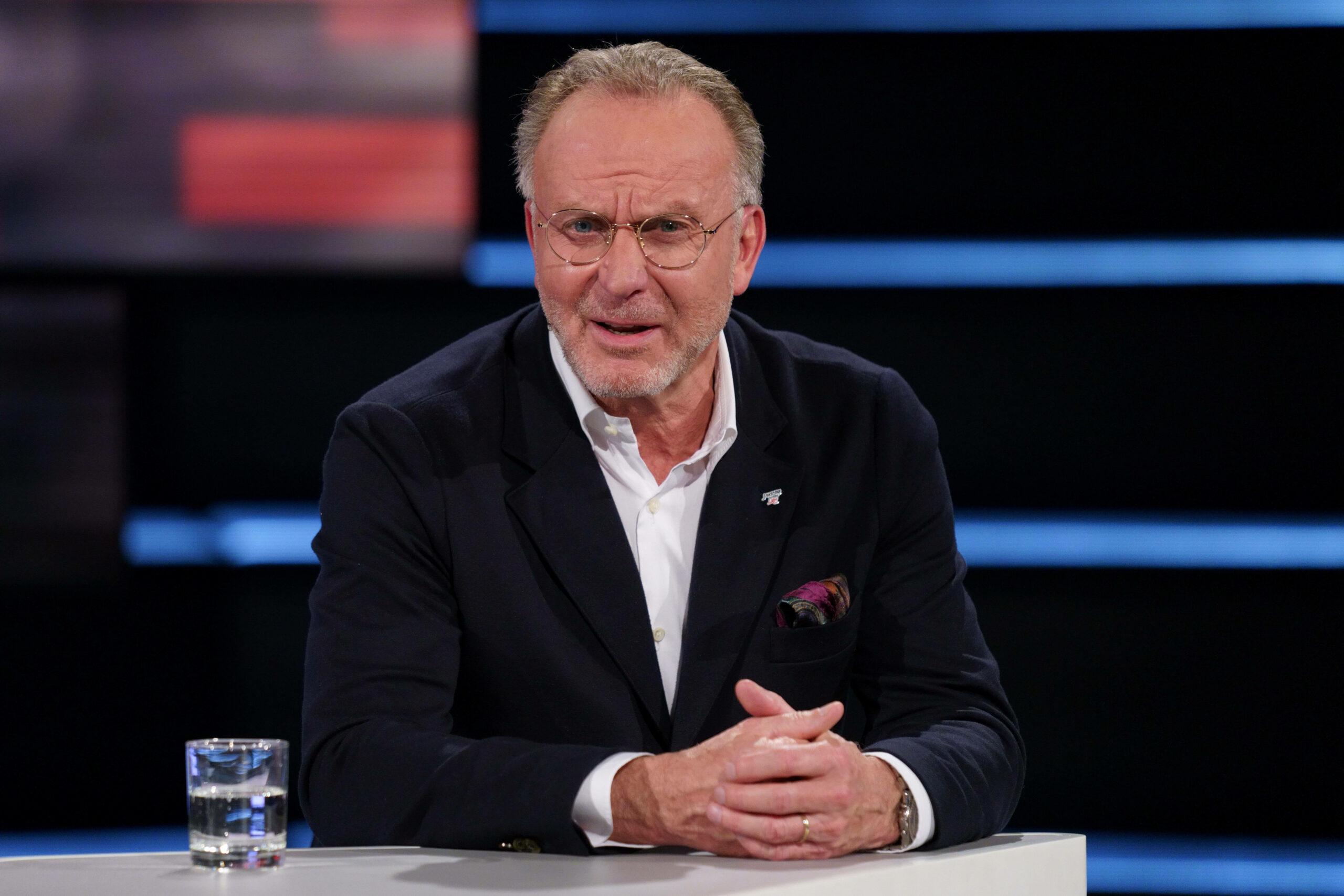Karl-Heinz Rummenigge (FC Bayern) Vorstandsboss im ZDF-Sportstudio