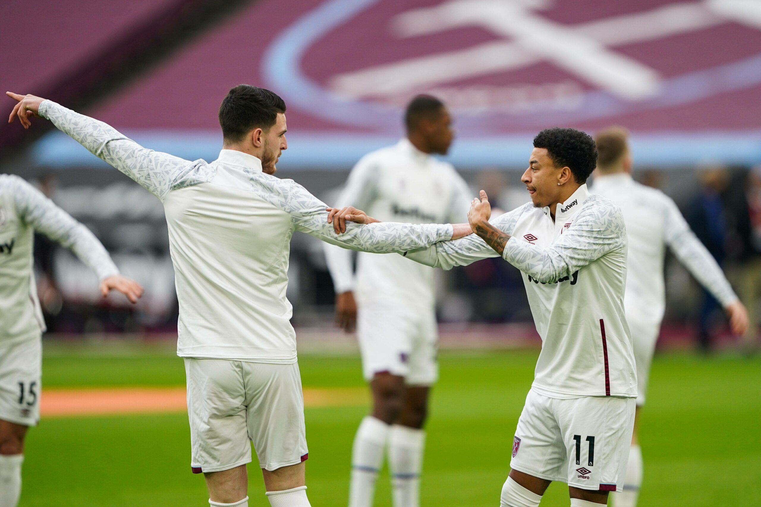 Lingard und Rice von West Ham beim Training