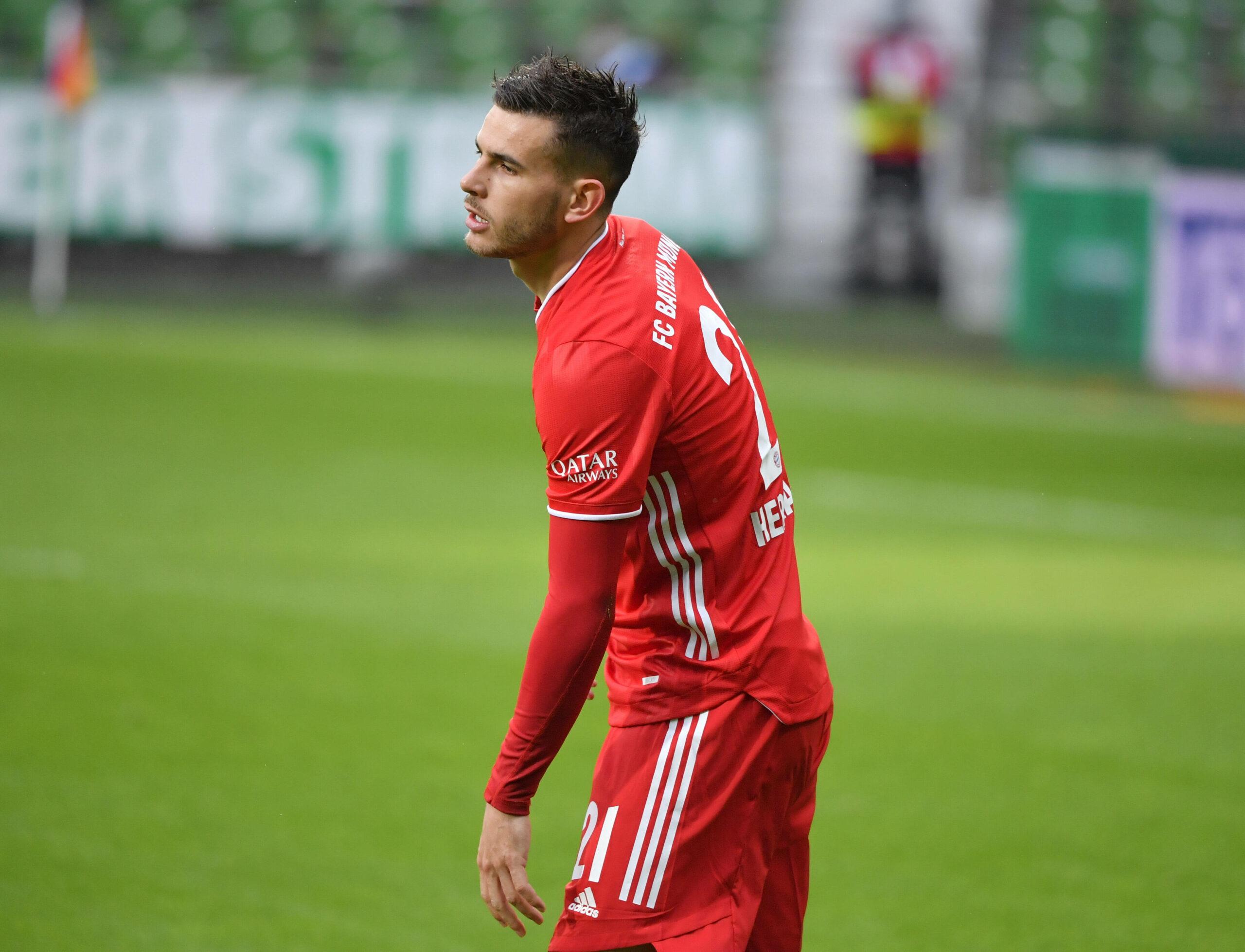 Lucas Hernandez (FC Bayern München) im Spiel gegen Werder Bremen
