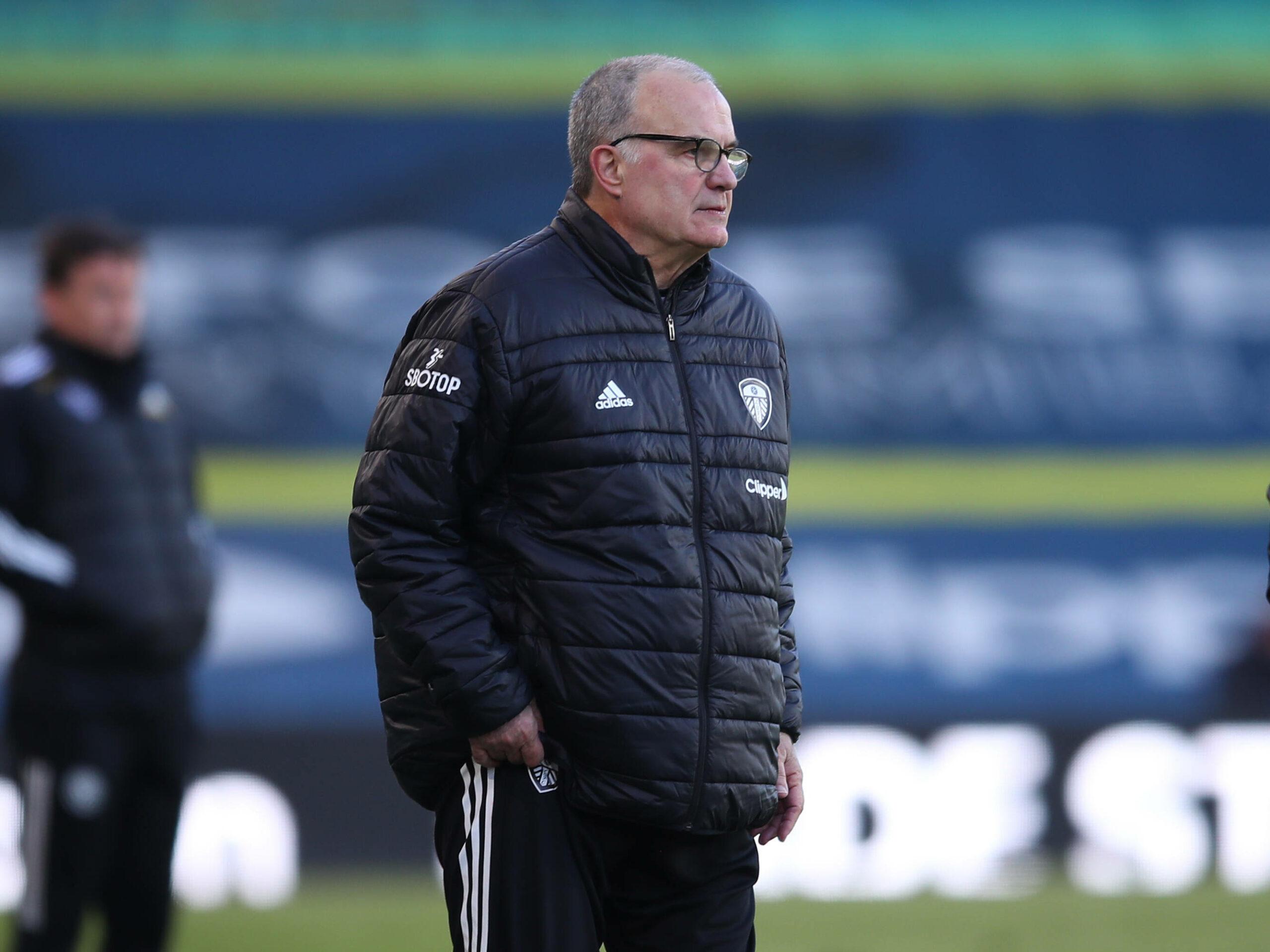 Marcelo Bielsa (Leeds United) beim Coaching