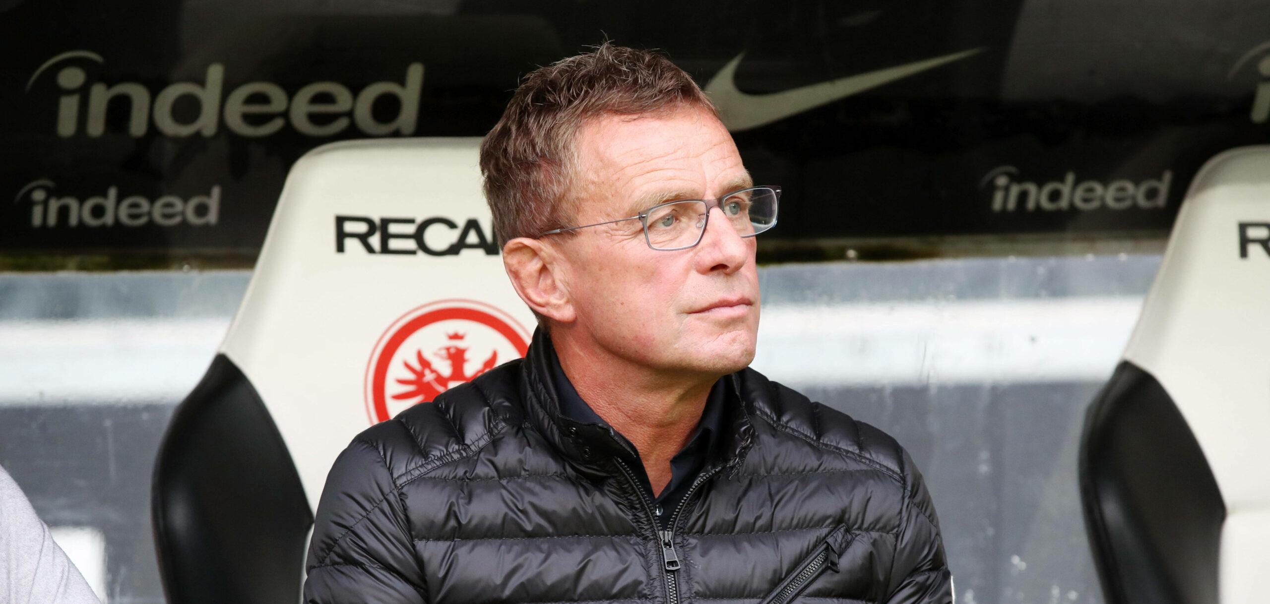 Ralf Rangnick bei dem Spiel RB Leipzig vs. Eintracht Frankfurt