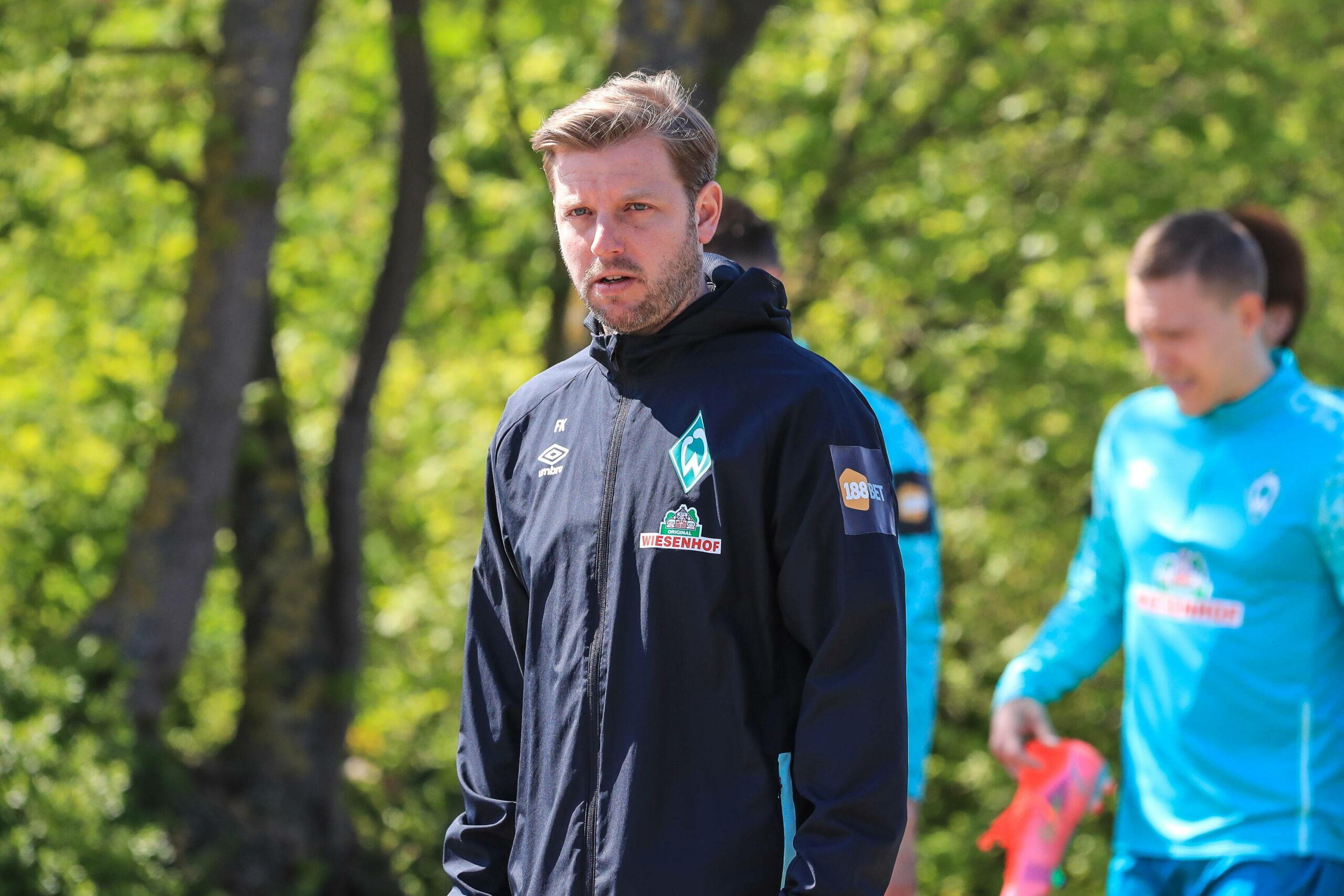 Florian Kohfeldt (Werder Bremen) beim Training