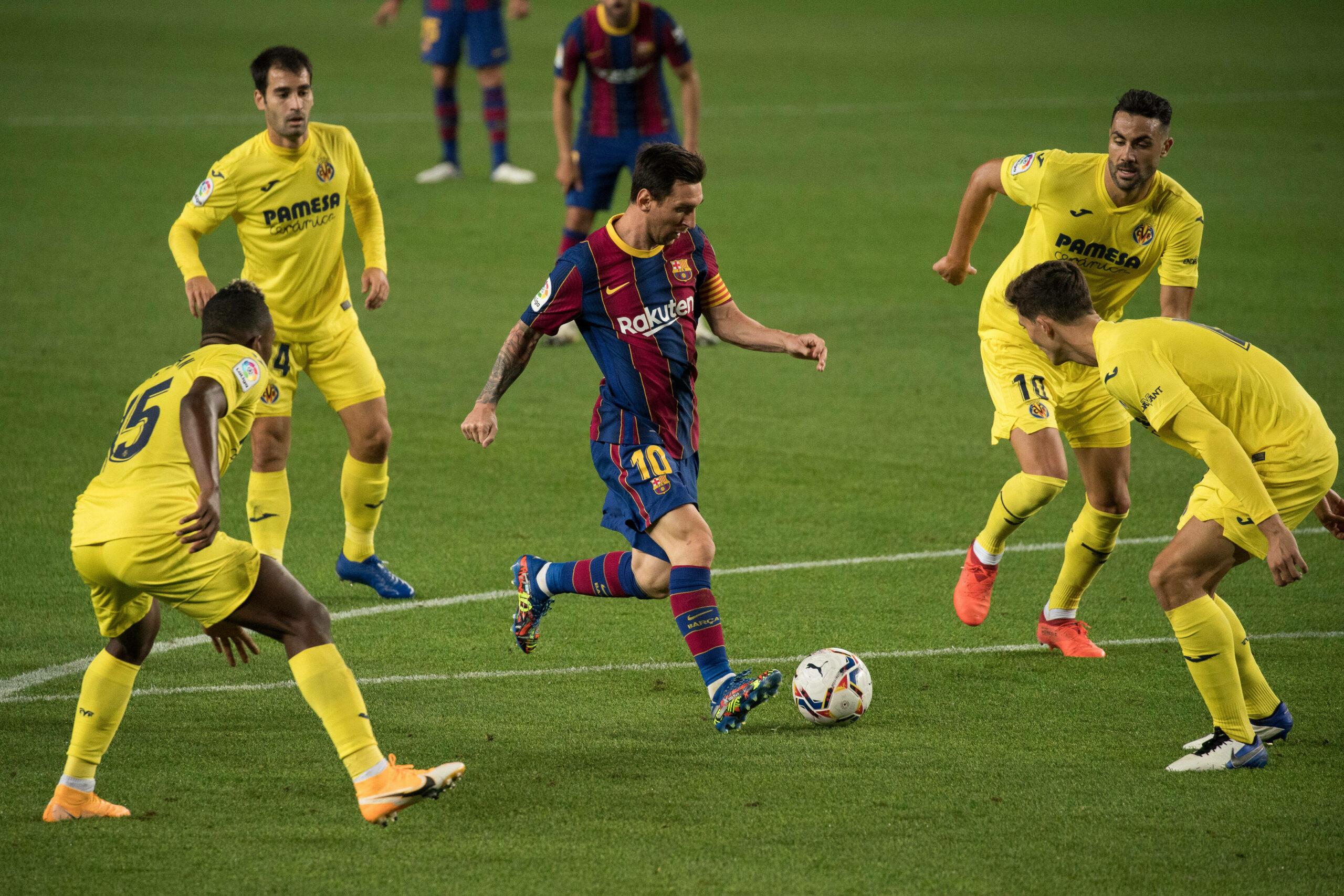 Lionel Messi (Barca) gegen Defensive von Villarreal