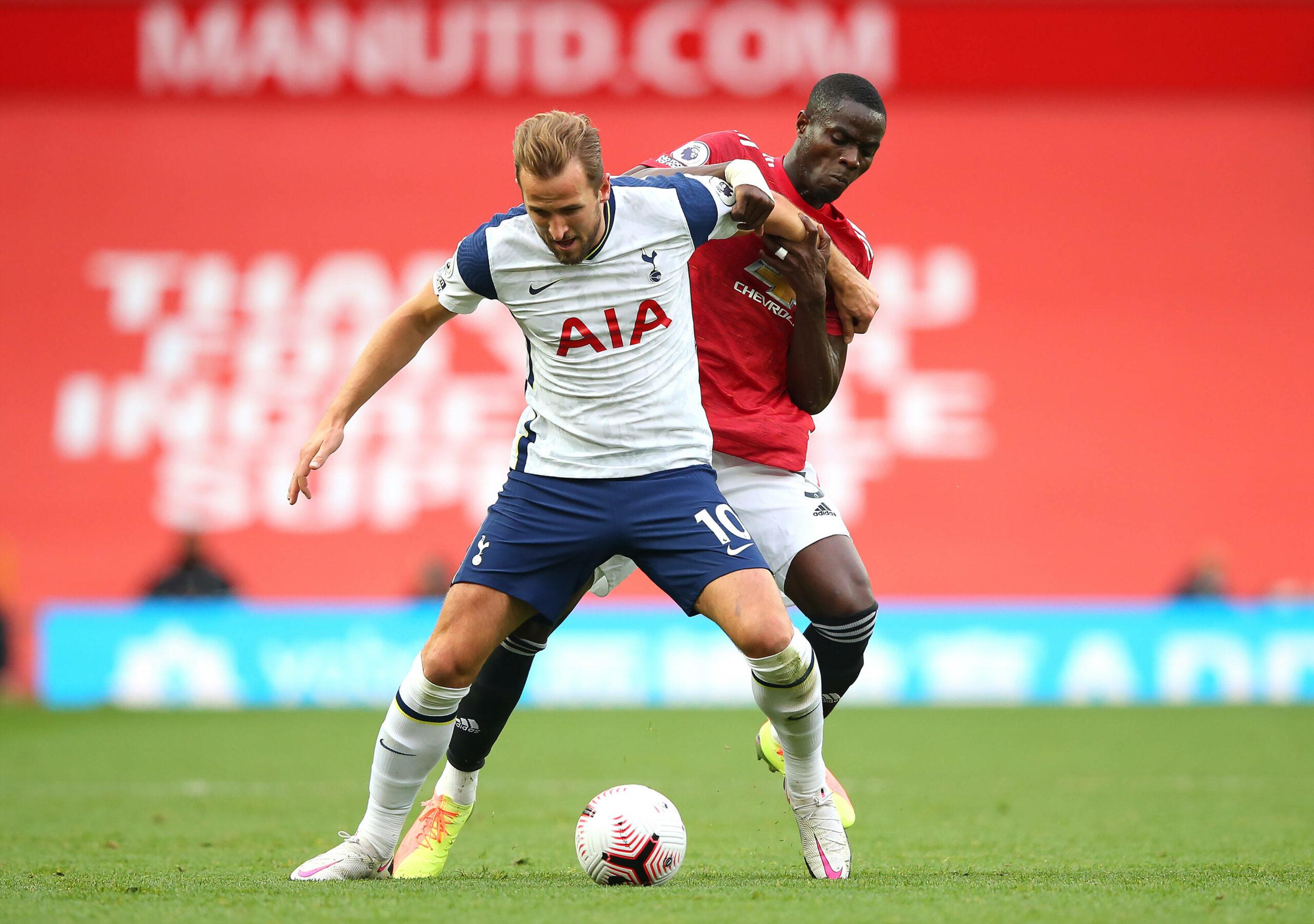 Kane (Spurs) und Bailly (ManUtd) liefern sich Zweikampf