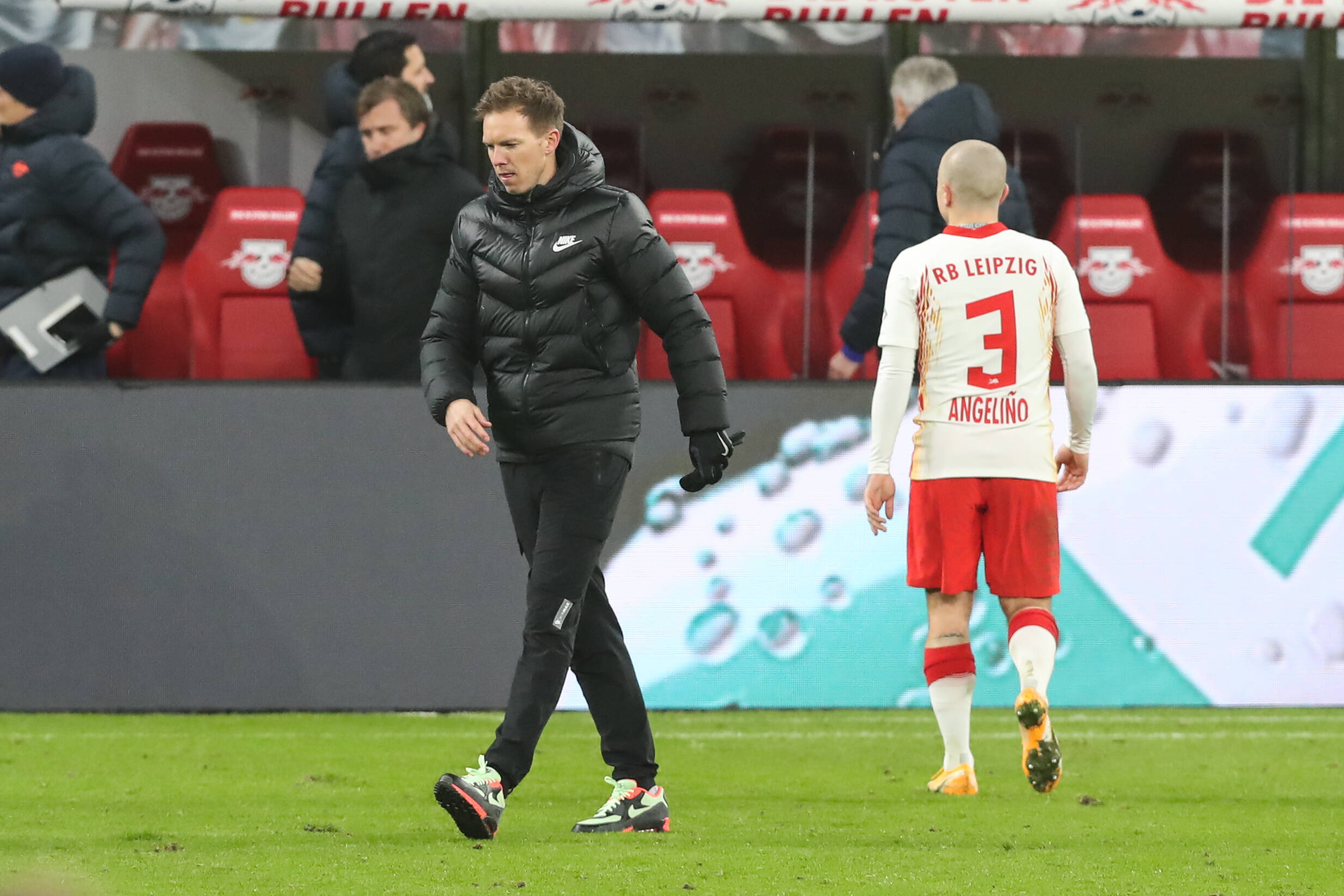 Julian Nagelsmann mit Angeliño(RB Leipzig)