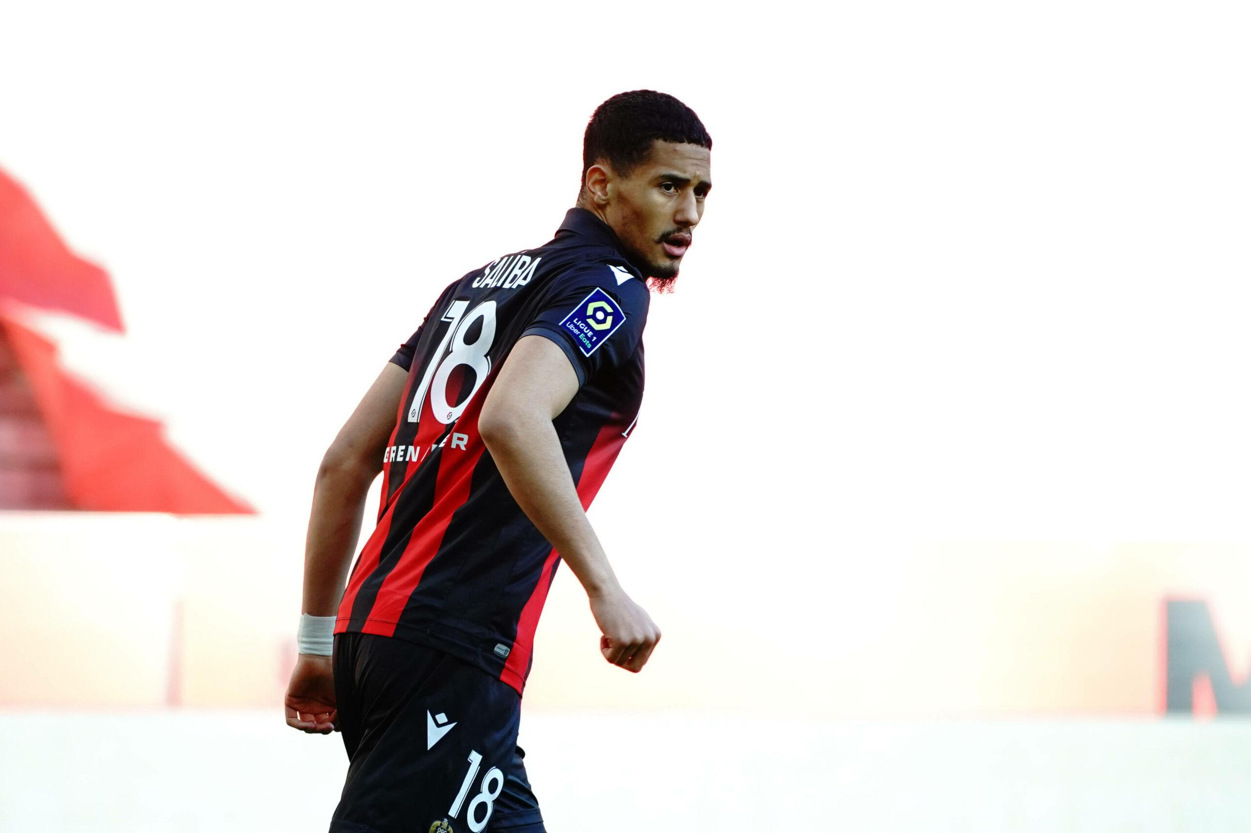 William Saliba (OGC Nizza) gegen Bordeaux
