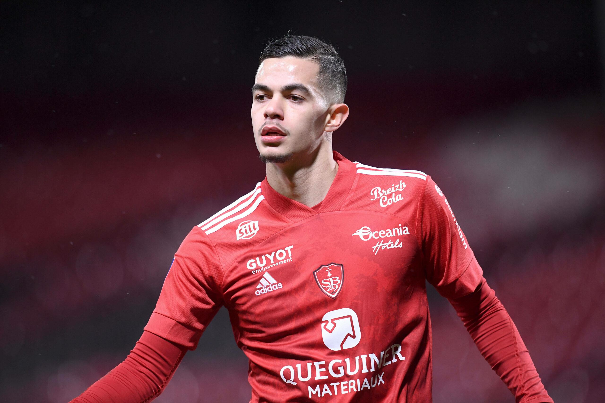 Romain Faivre (Stade Brest) gegen Lyon