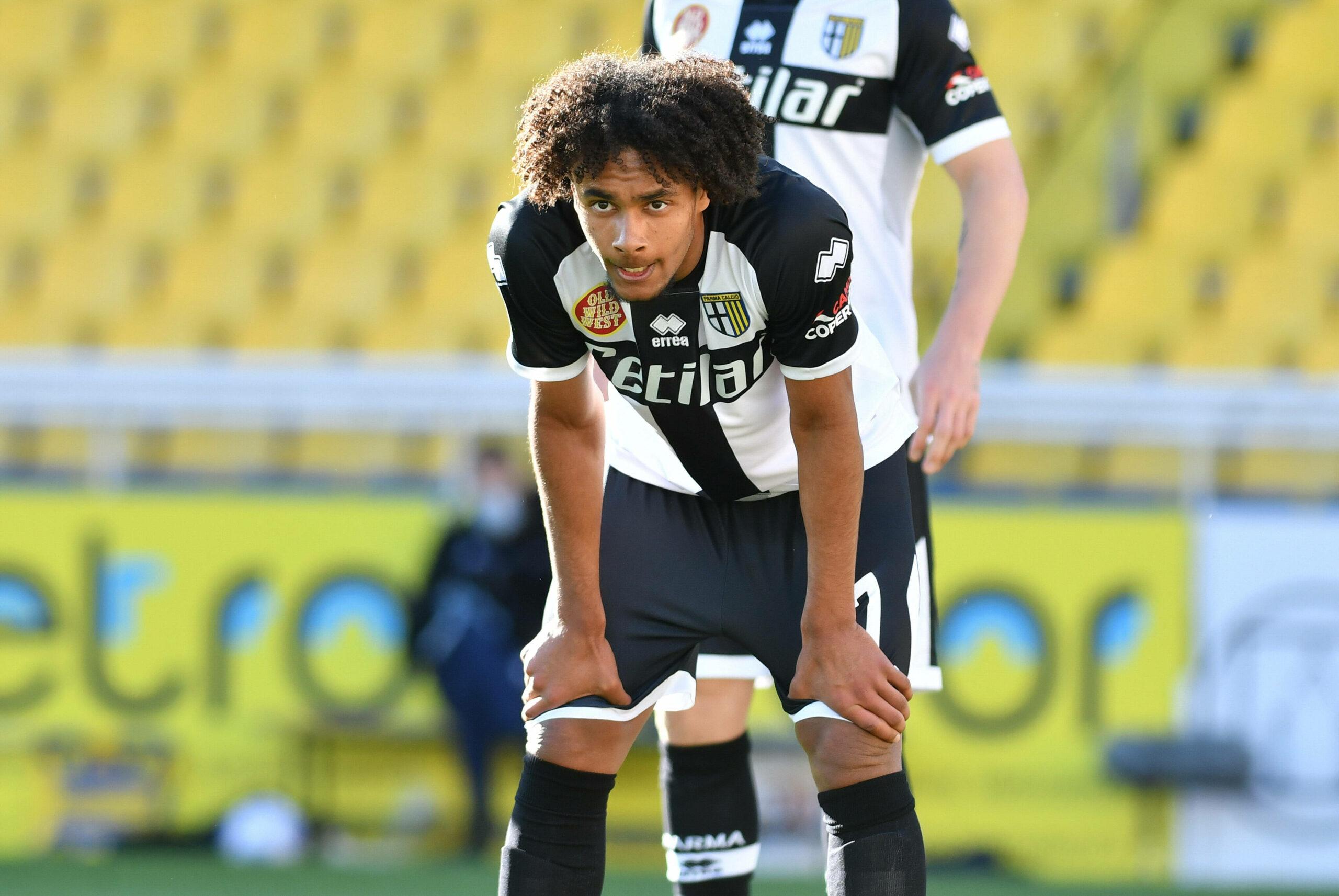 Zirkzee (FC Parma) enttäuscht nach der Niederlage