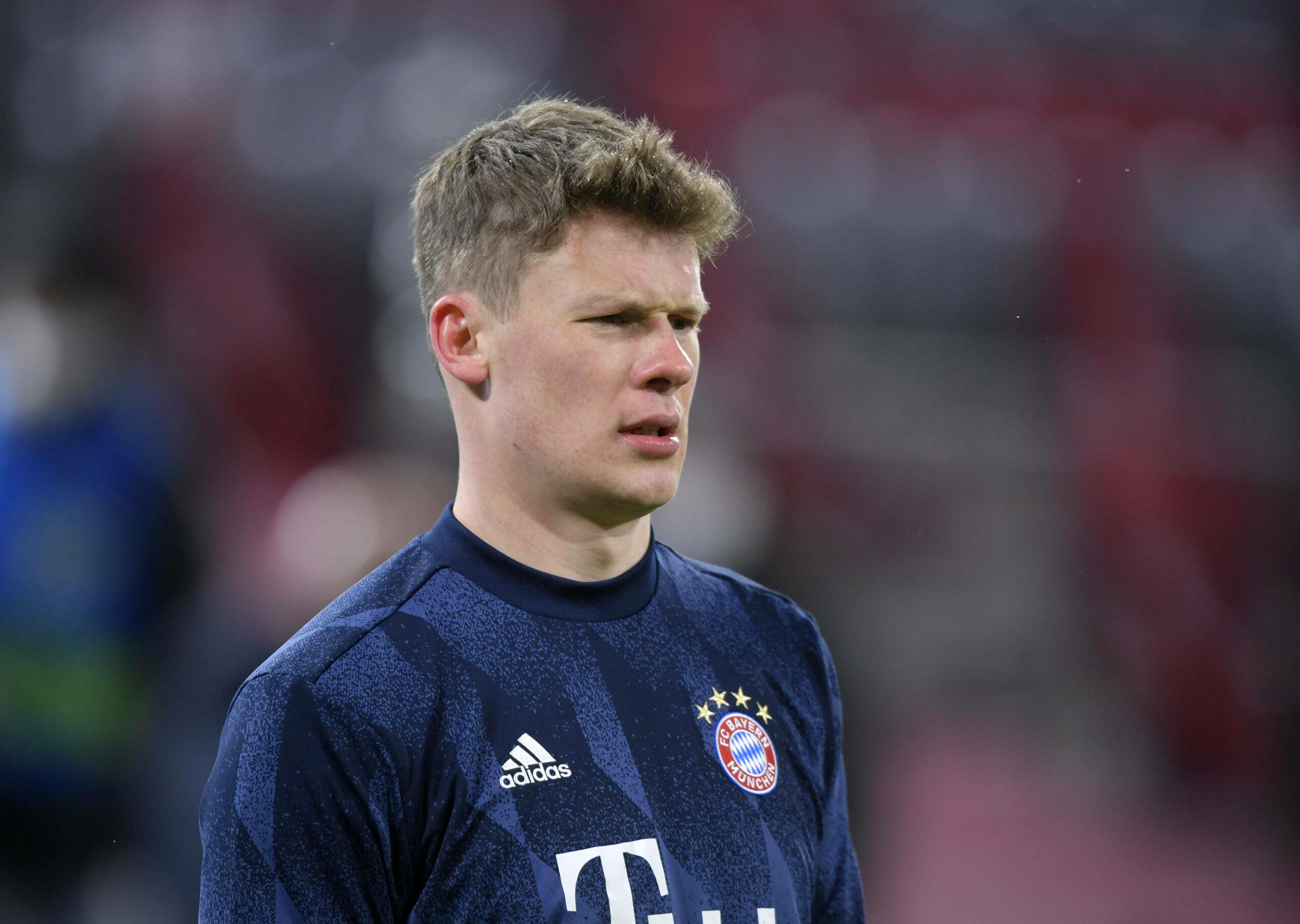Alexander Nübel (FC Bayern) beim Aufwärmen