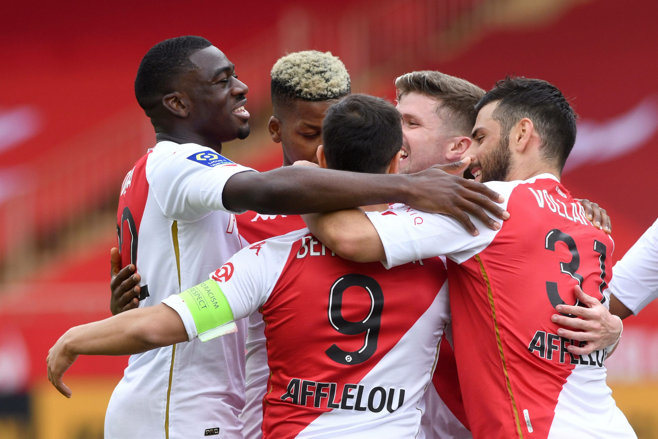 AS Monaco Team bejubelt Treffer