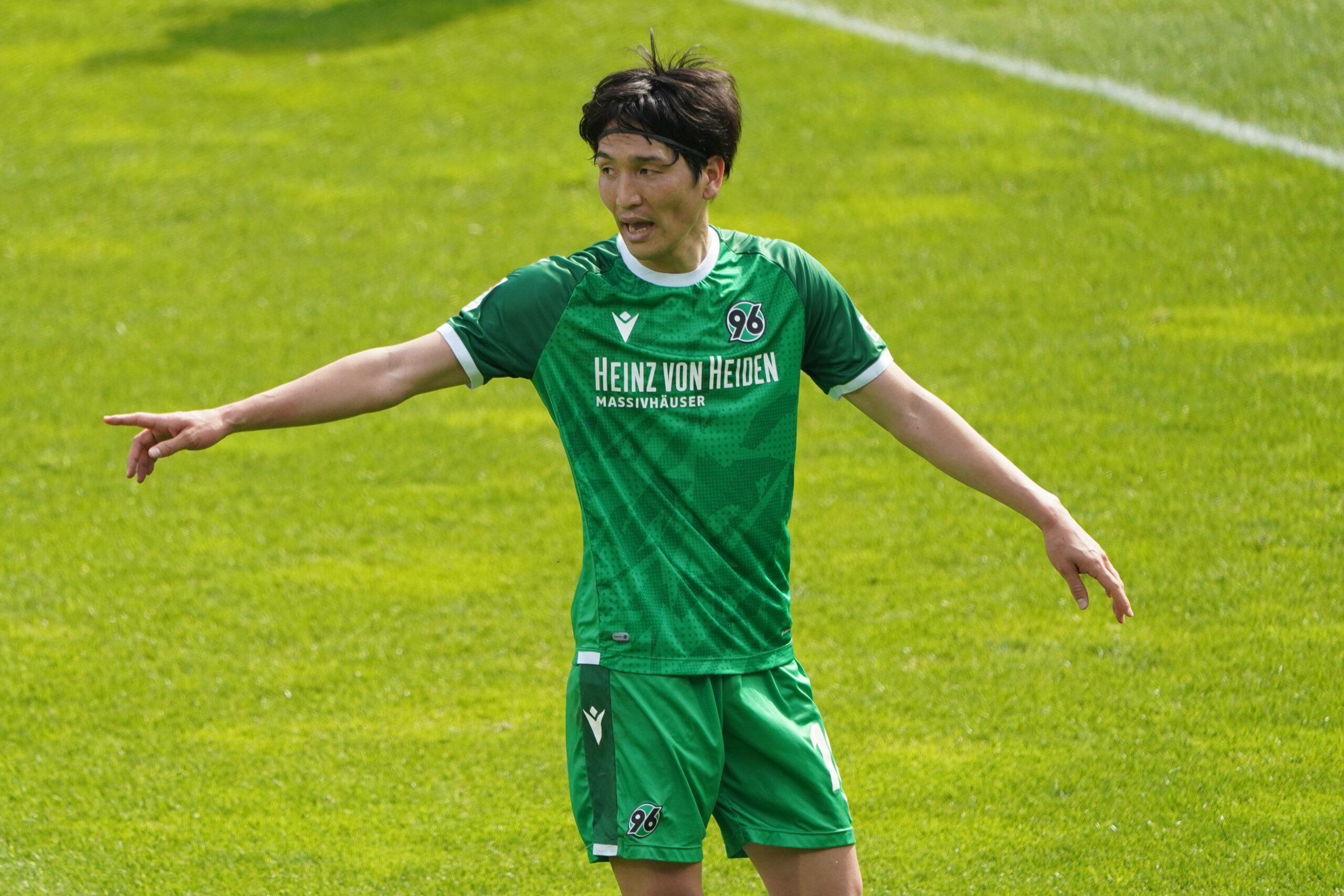 Genki Haraguchi (Hannover 96) gegen den VfL Bochum
