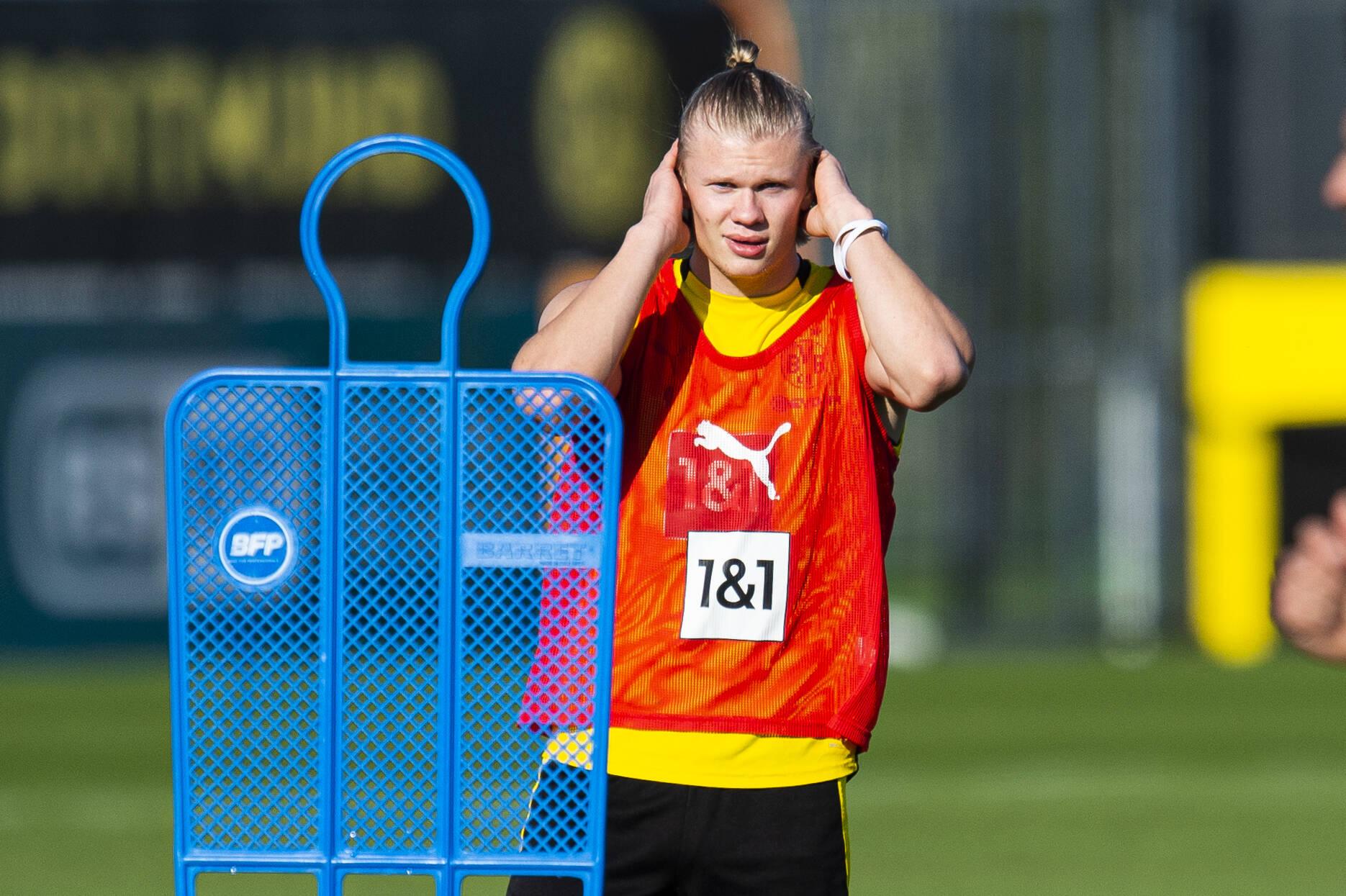 Haaland (BVB) im Training