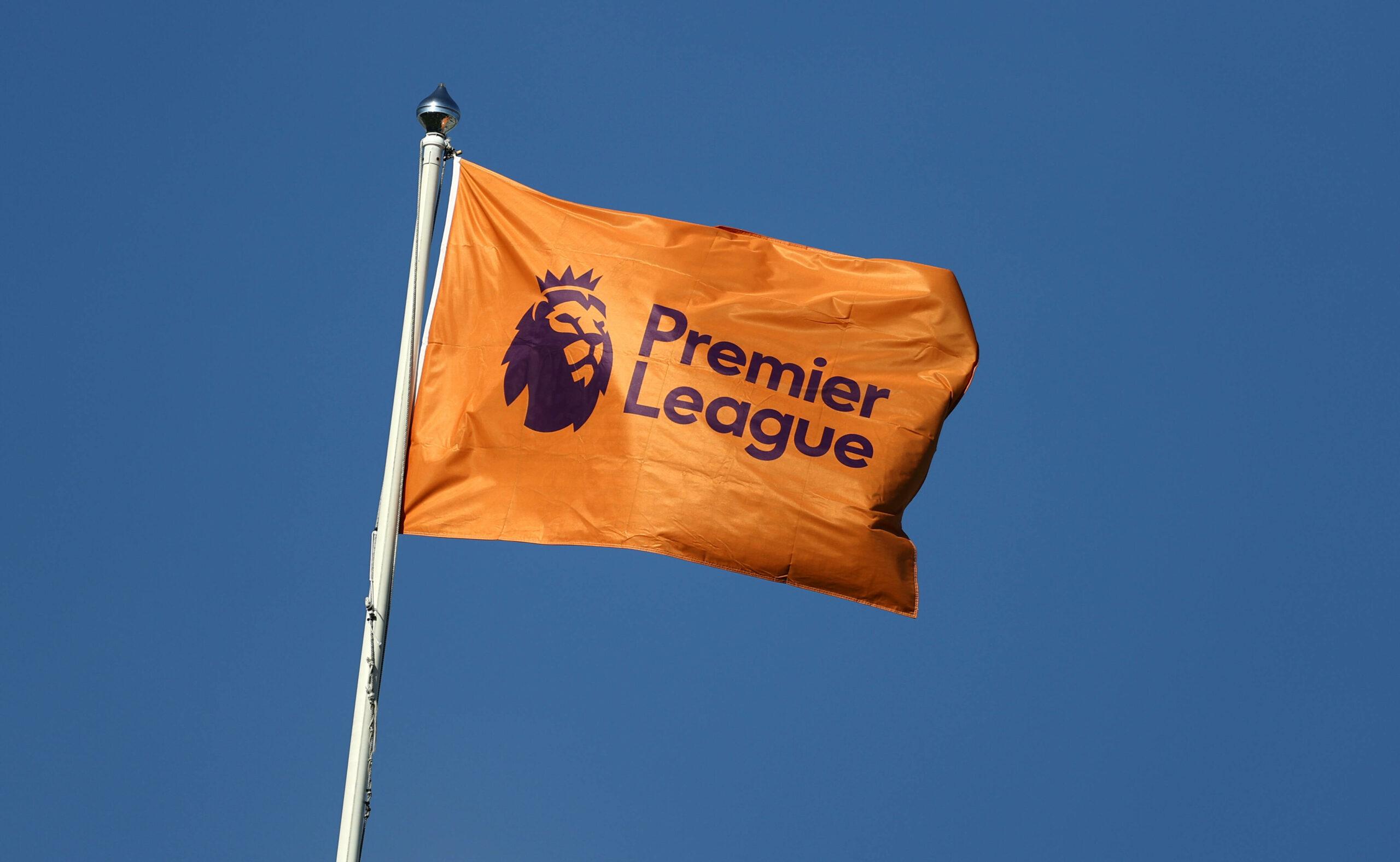 Premier League Logo auf Fahne