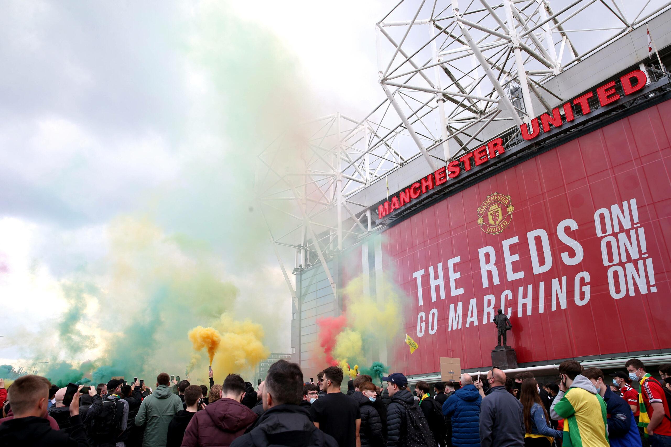 Manchester United Fan-Auflauf