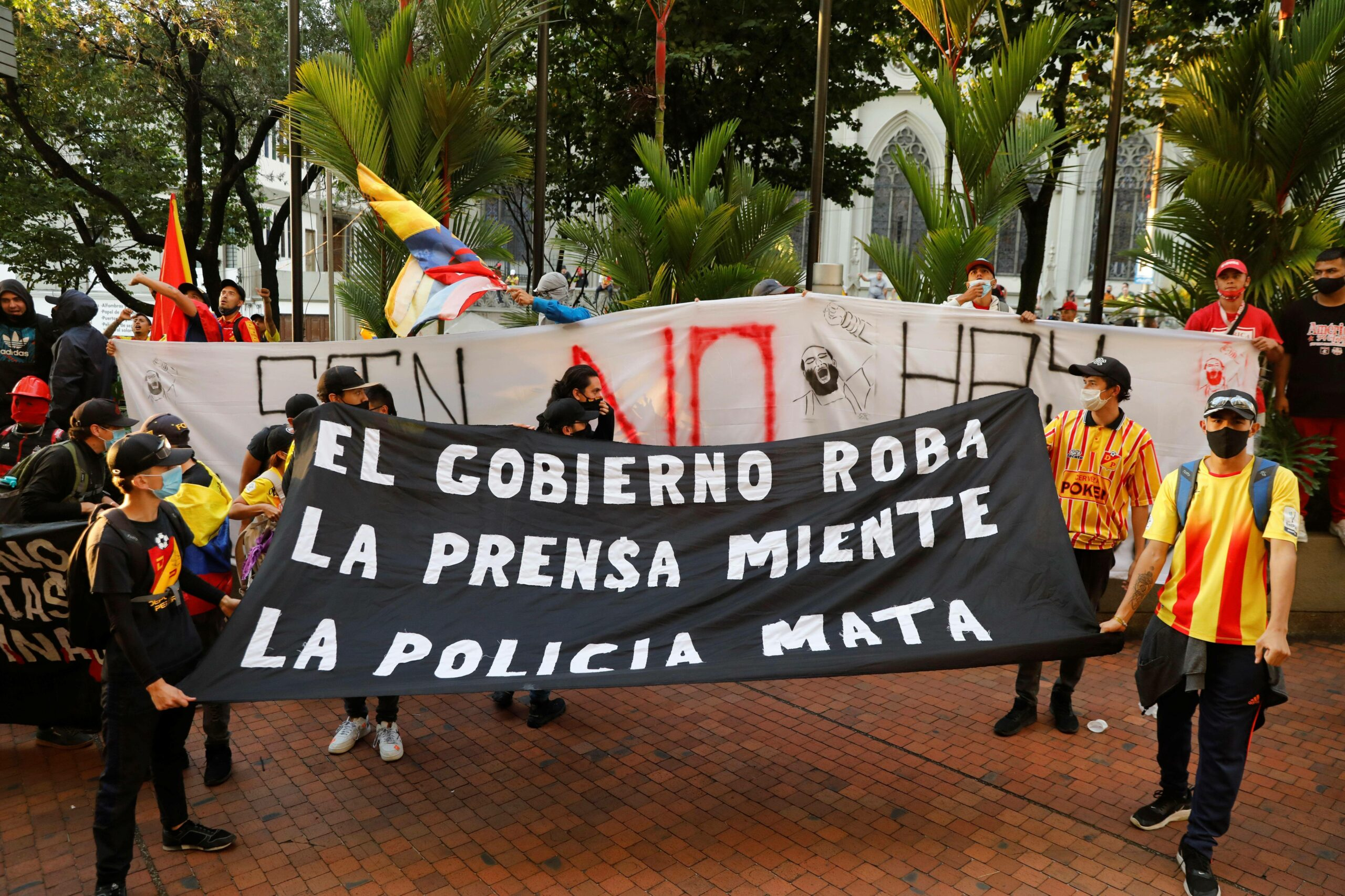 """Proteste gegen Copa America: """"die Regierung stiehlt, die Presse lügt, die Polizei tötet"""""""
