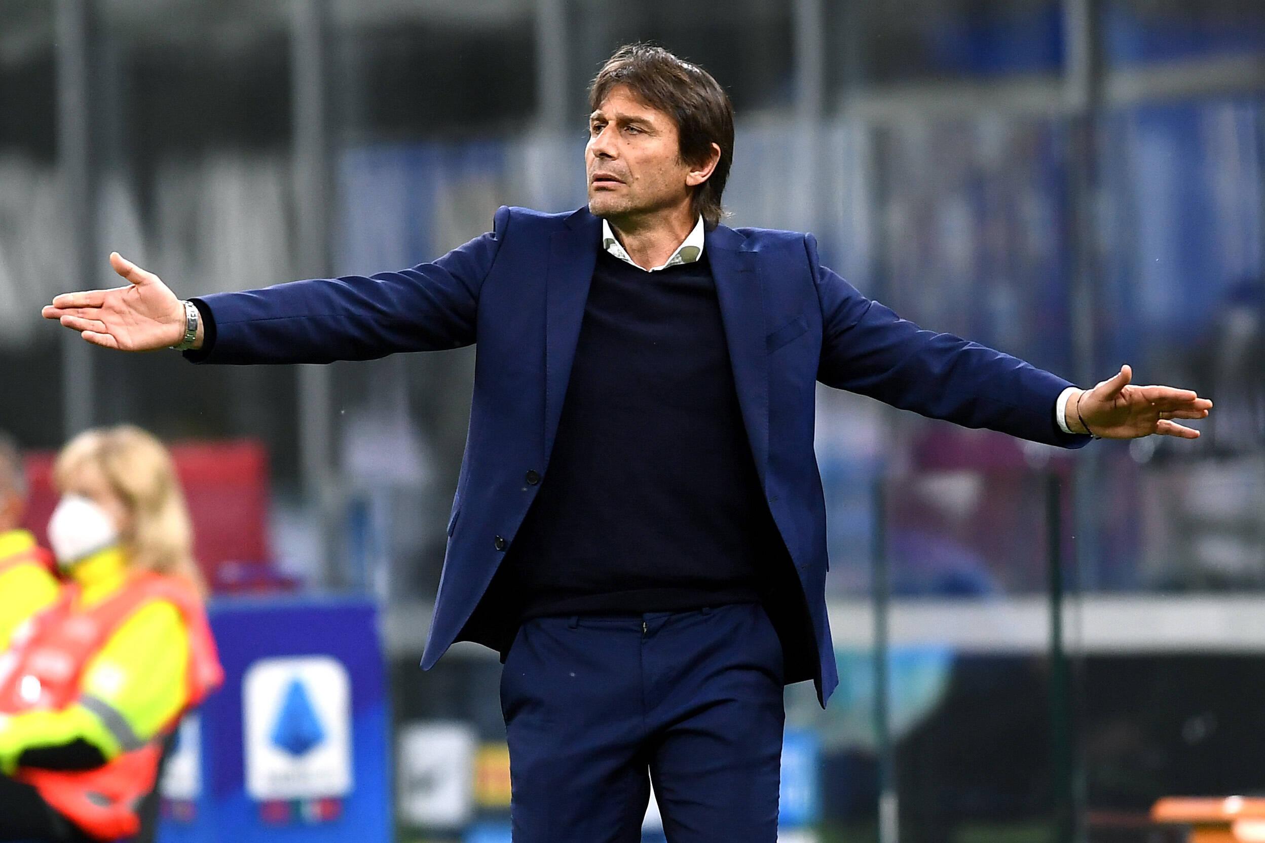 Antonio Conte (Inter) gegen die Roma