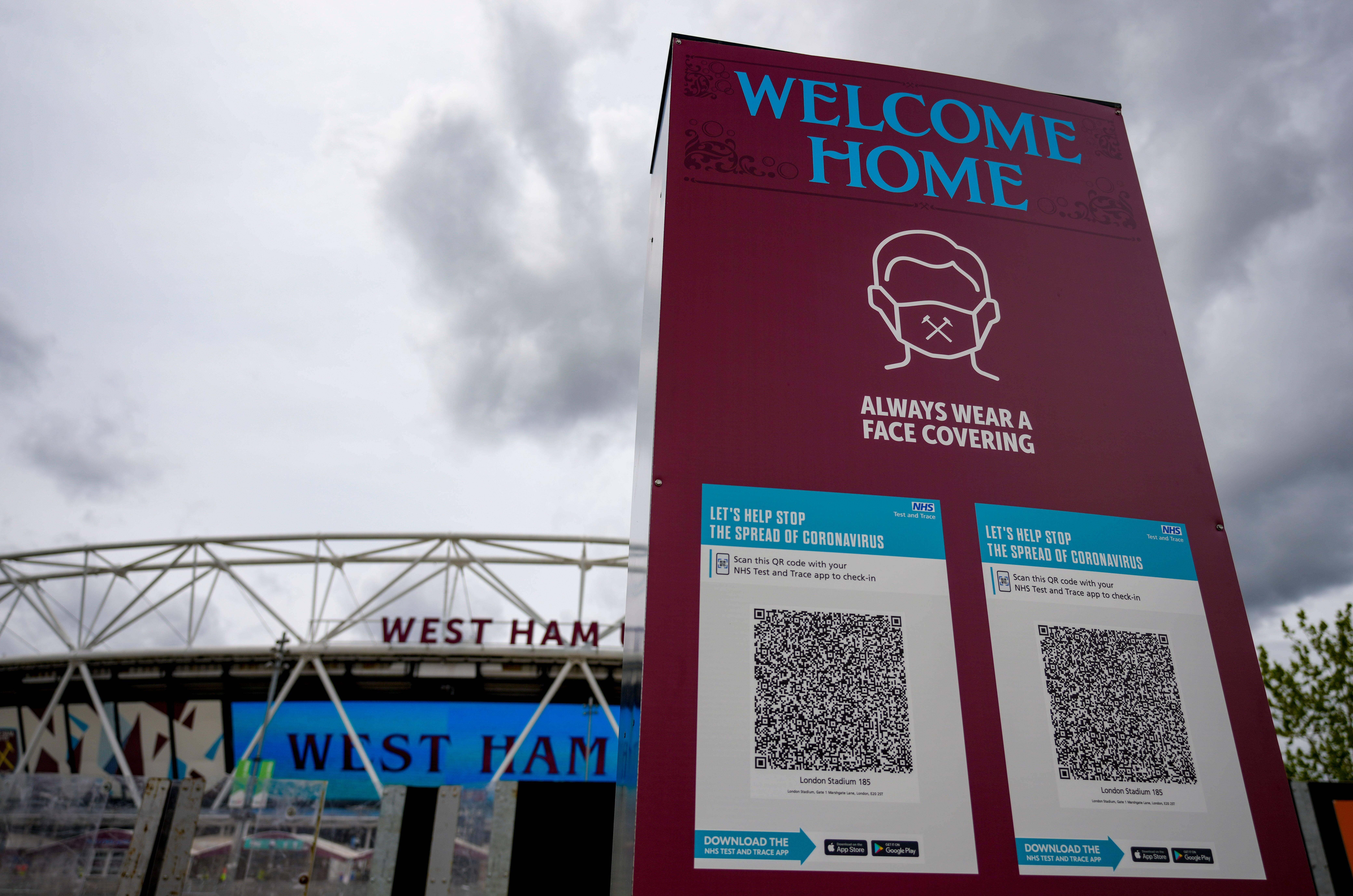 West Ham Stadium COVID