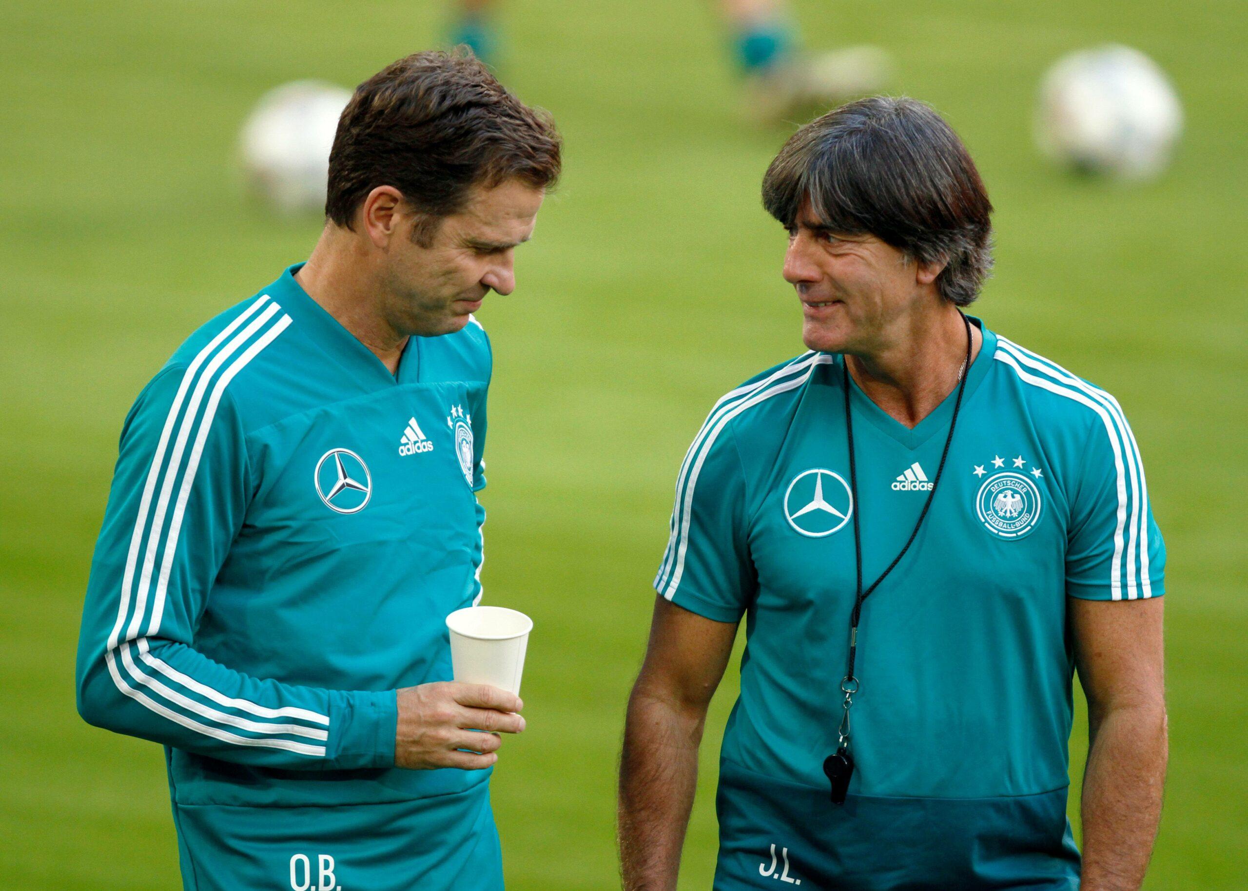 Bierhoff, Löw (DFB) im Training