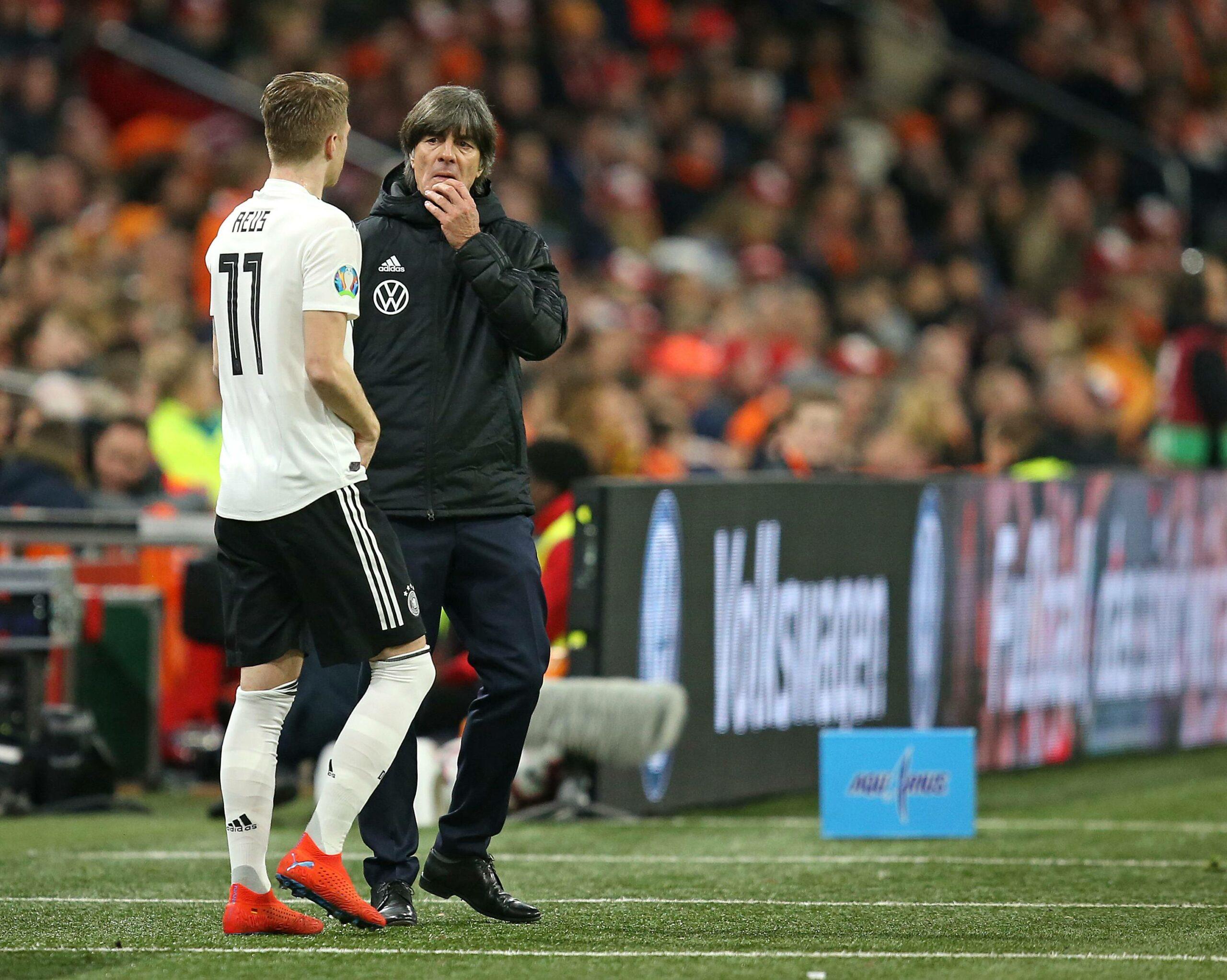 Reus und Löw (DFB-Team) im Gespräch