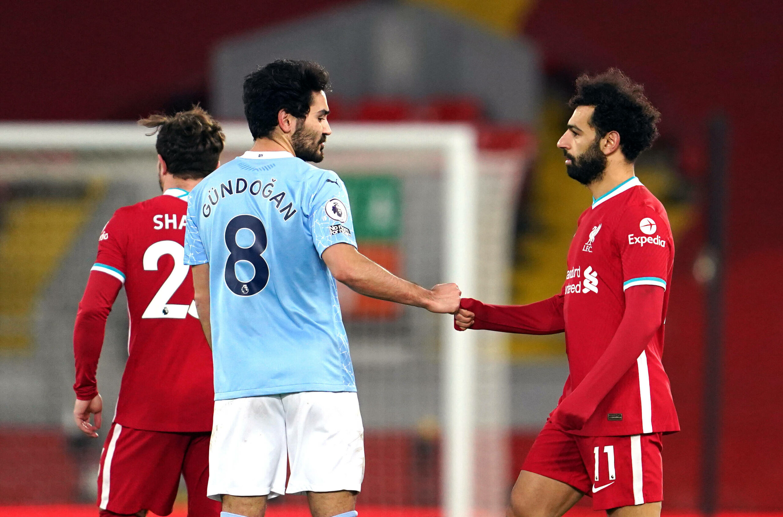 Ilkay Gündogan und Mohamed Salah