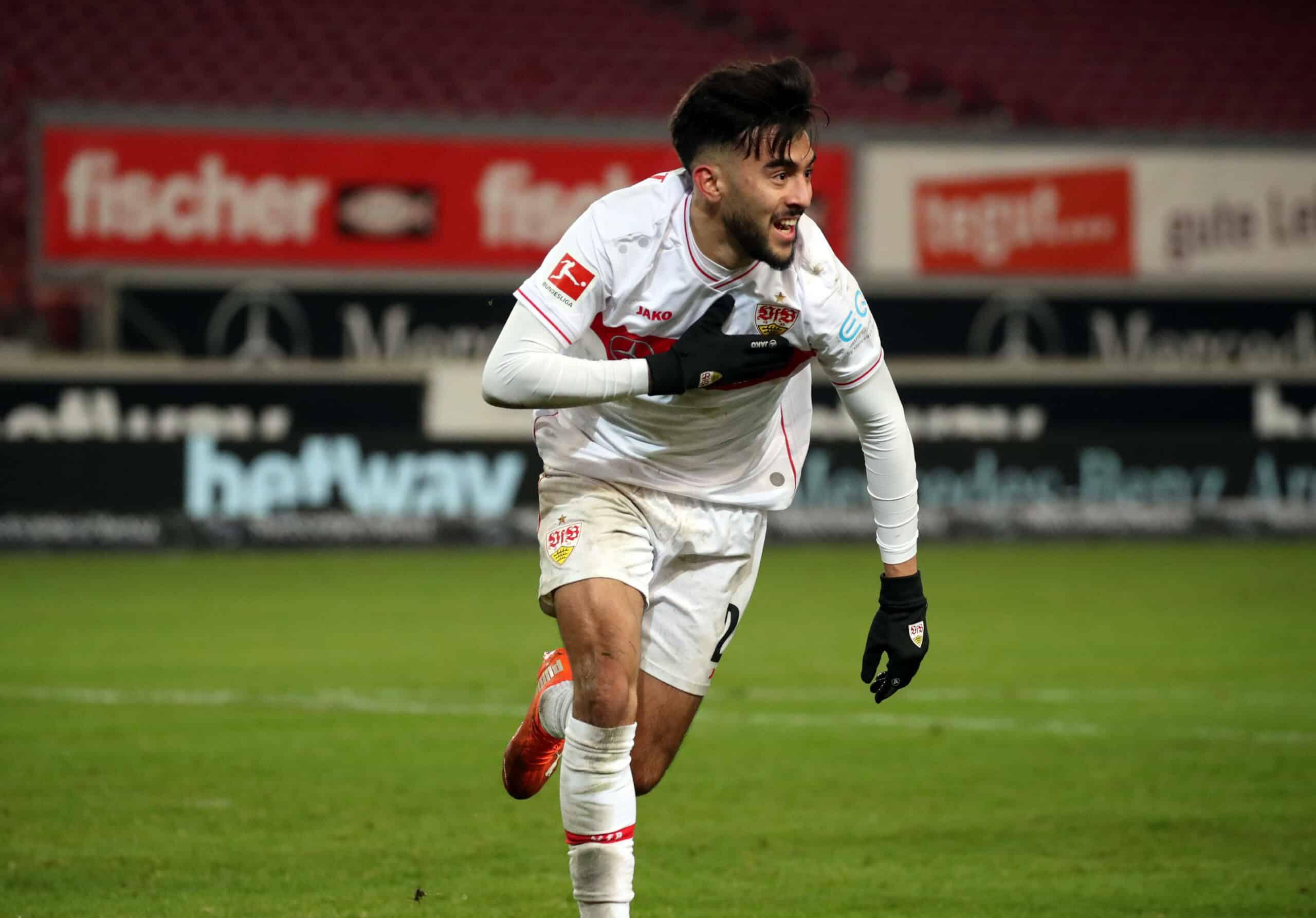 González (VfB Stuttgart) jubelt