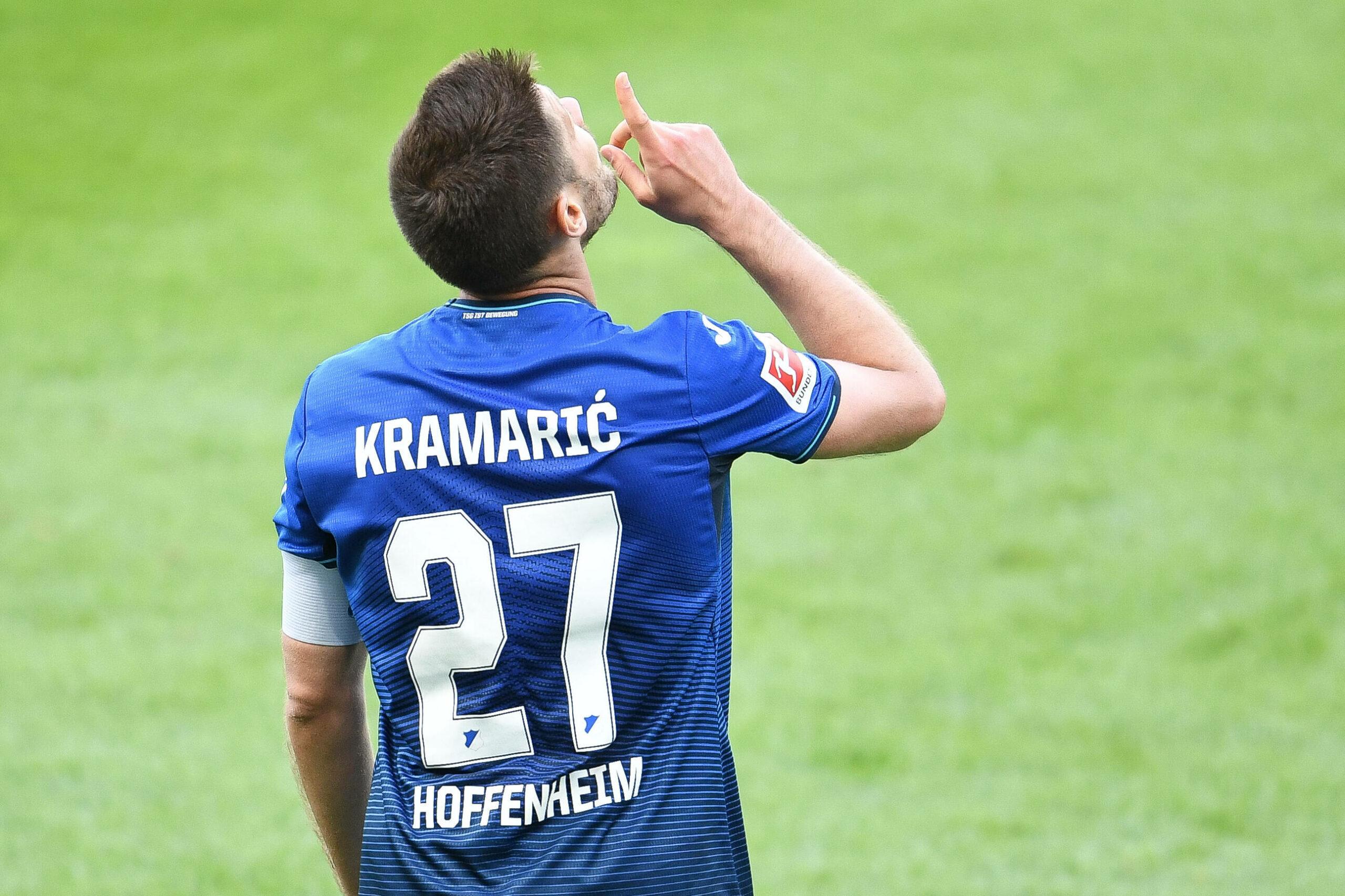Kramaric (Hoffenheim) bejubelt Treffer