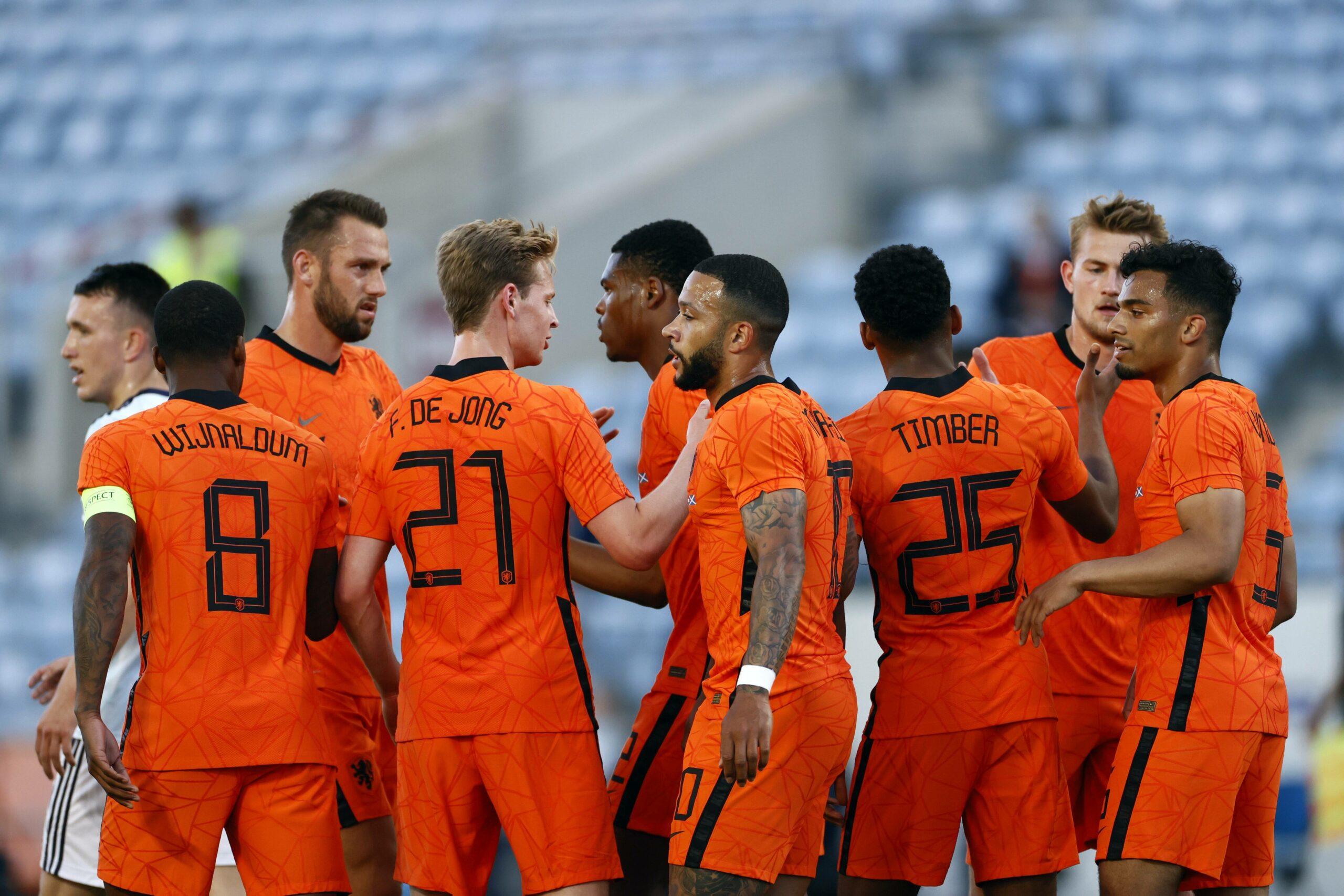 Niederlande Team bejubelt Treffer