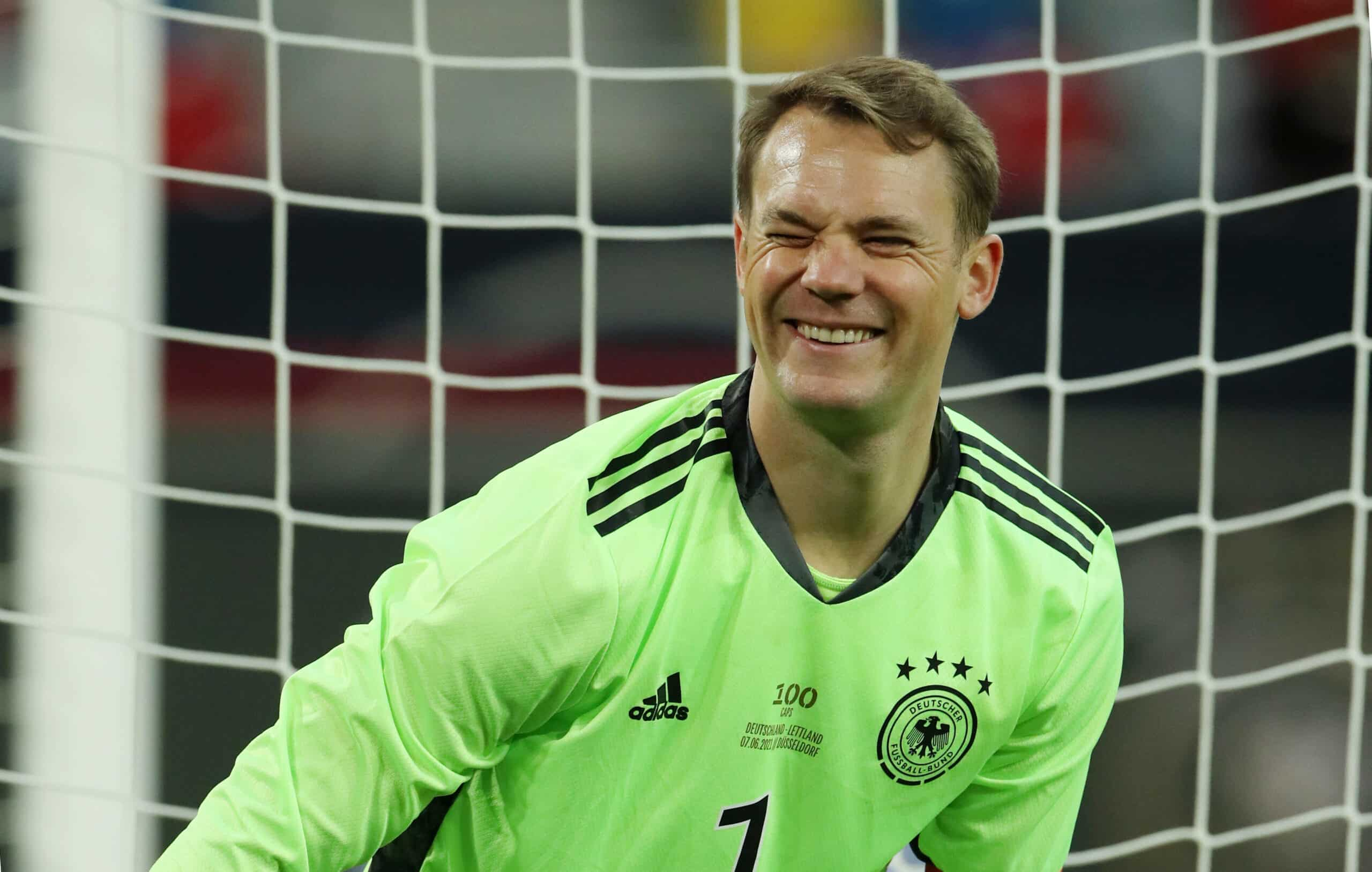 Manuel Neuer (DFB) lacht
