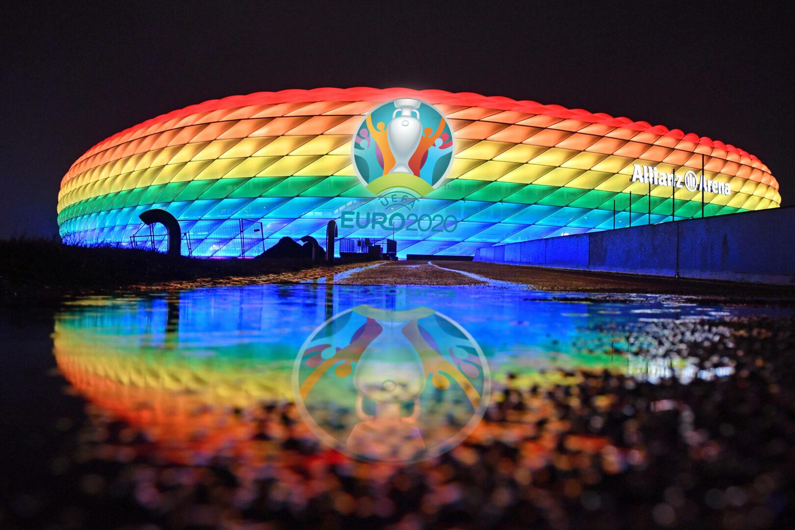 Nach UEFA-Entscheidung: Regenbögen in ganz Deutschland