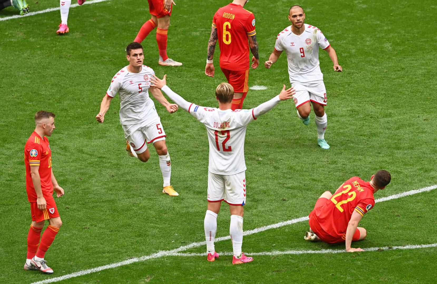 EM 2021   Taktische Umstellung und Dolberg sichern Dänemark gegen Wales den Viertelfinaleinzug