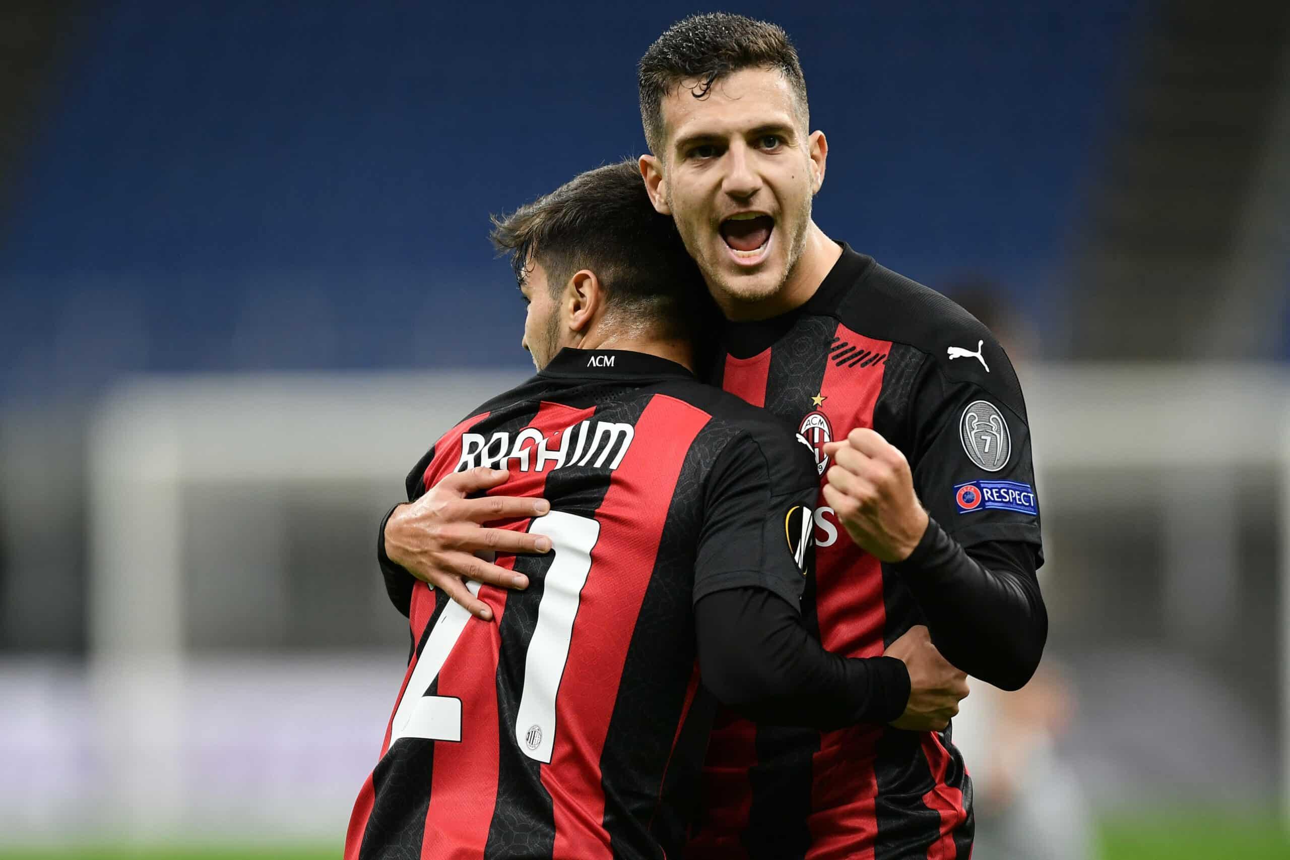 Brahim, Dalot (Milan) bejubeln Treffer