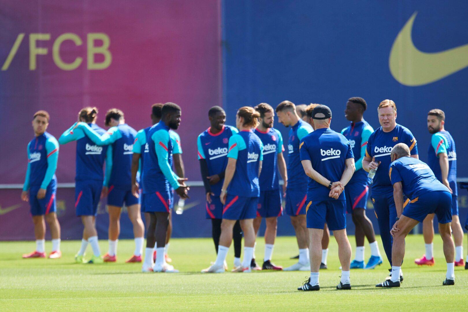 Barca Team beim Training