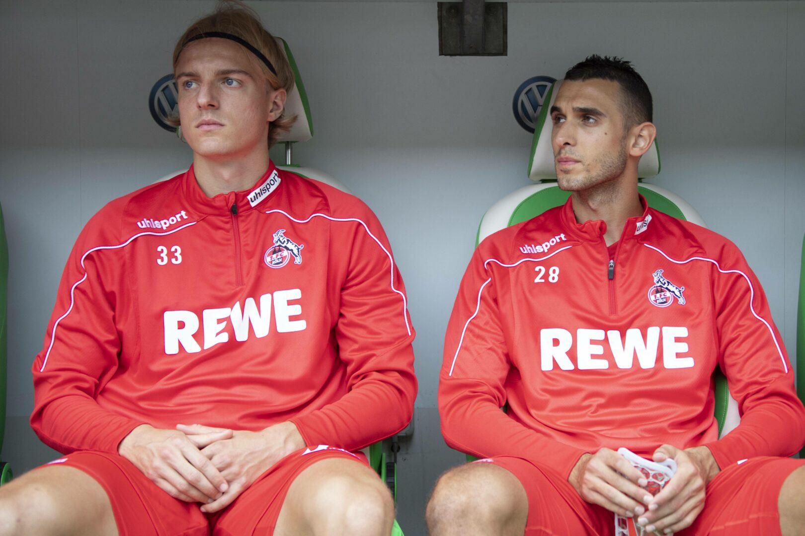 Bornauw, Skhiri (beide 1. FC Köln) gegen Wolfsburg