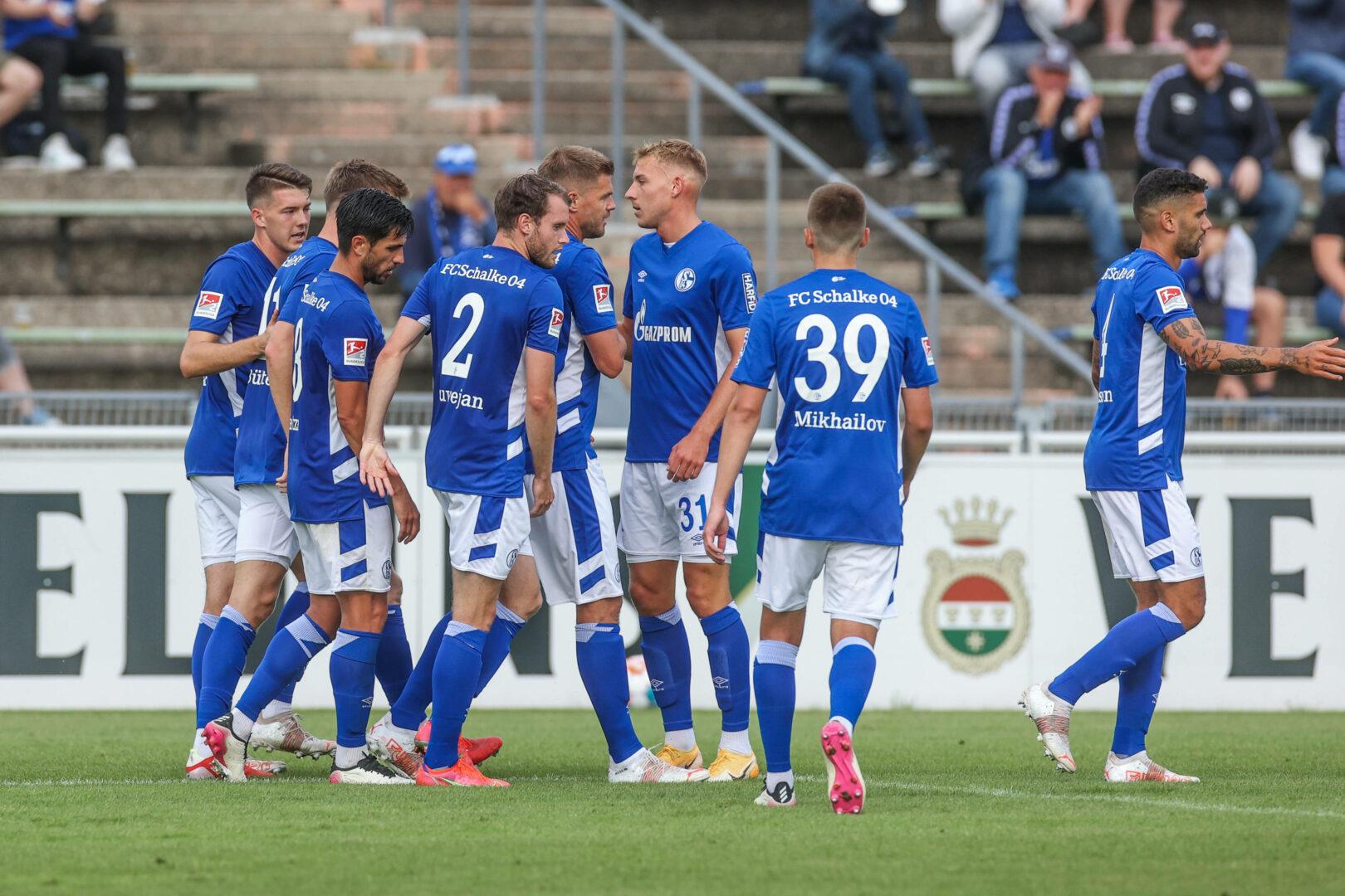 Schalke 04 Team jubelt