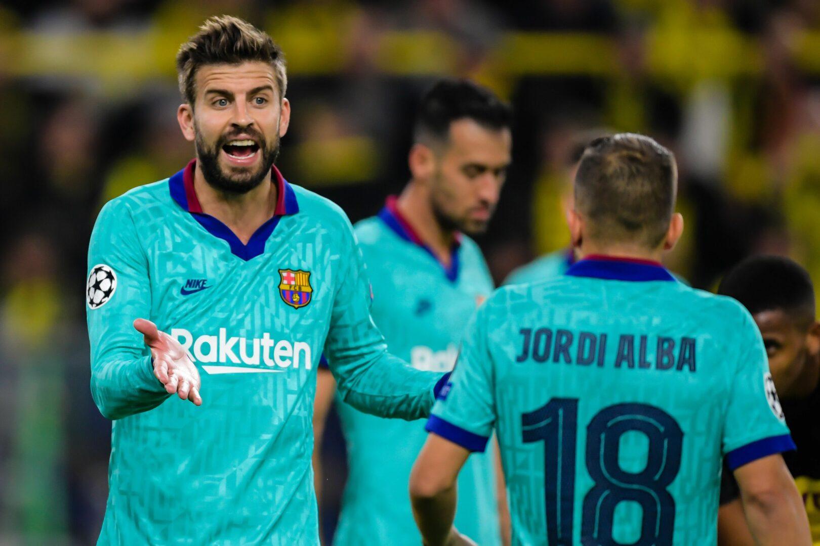 Pique, Alba (beide Barca) gegen BVB