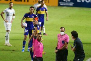 Boca Juniors Rote Karte Trainer
