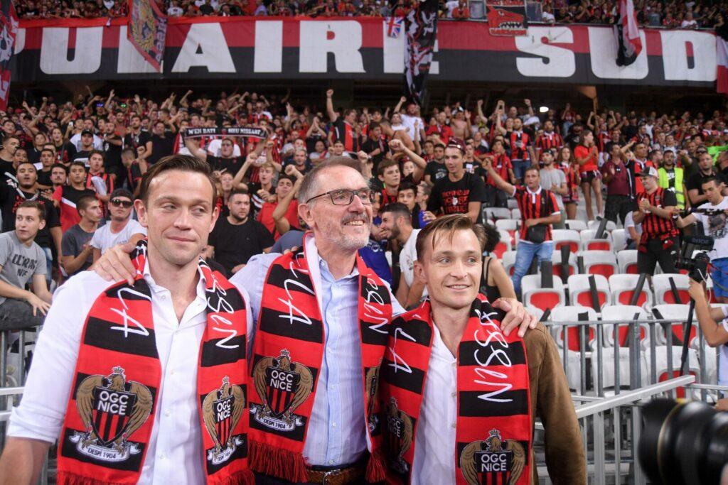 Jim Ratcliffe (Besitzer OGC Nizza) mit seinen Söhnen