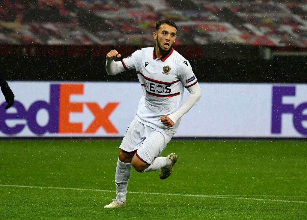 Gouiri (Nizza) bejubelt Treffer gegen Leverkusen