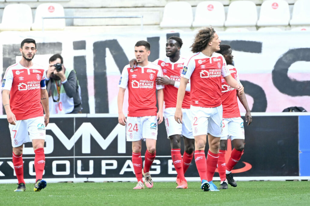Reims Team bejubelt Treffer