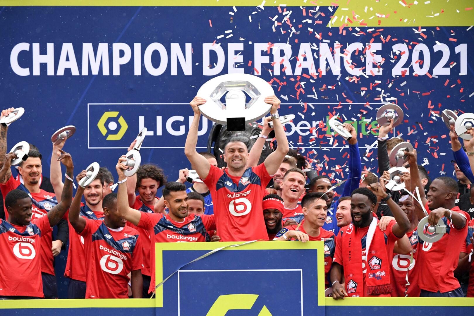 OSC Lille Team Meisterfeier