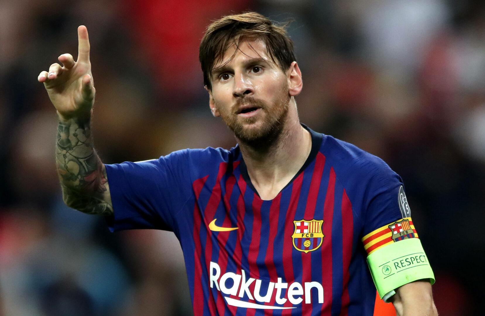 Lionel Messi (Barca) jubelt