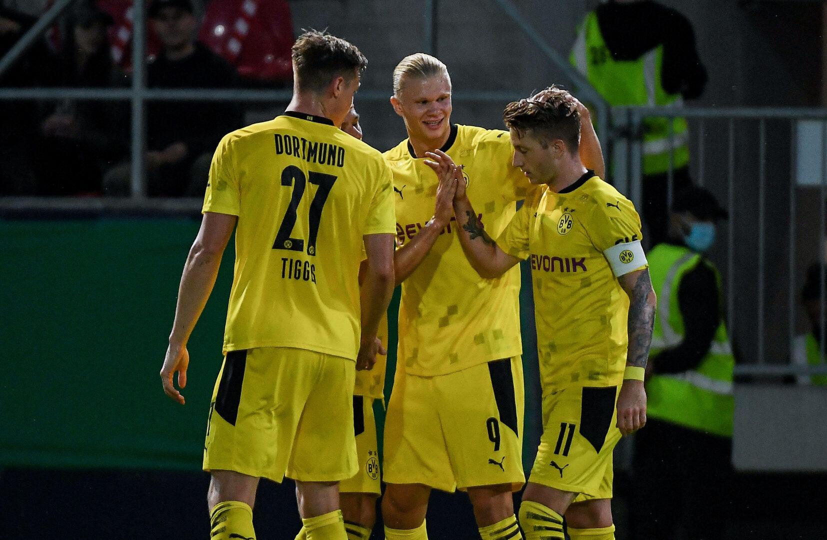 DFB-Pokal   Haaland-Gala in Wiesbaden! BVB locker weiter