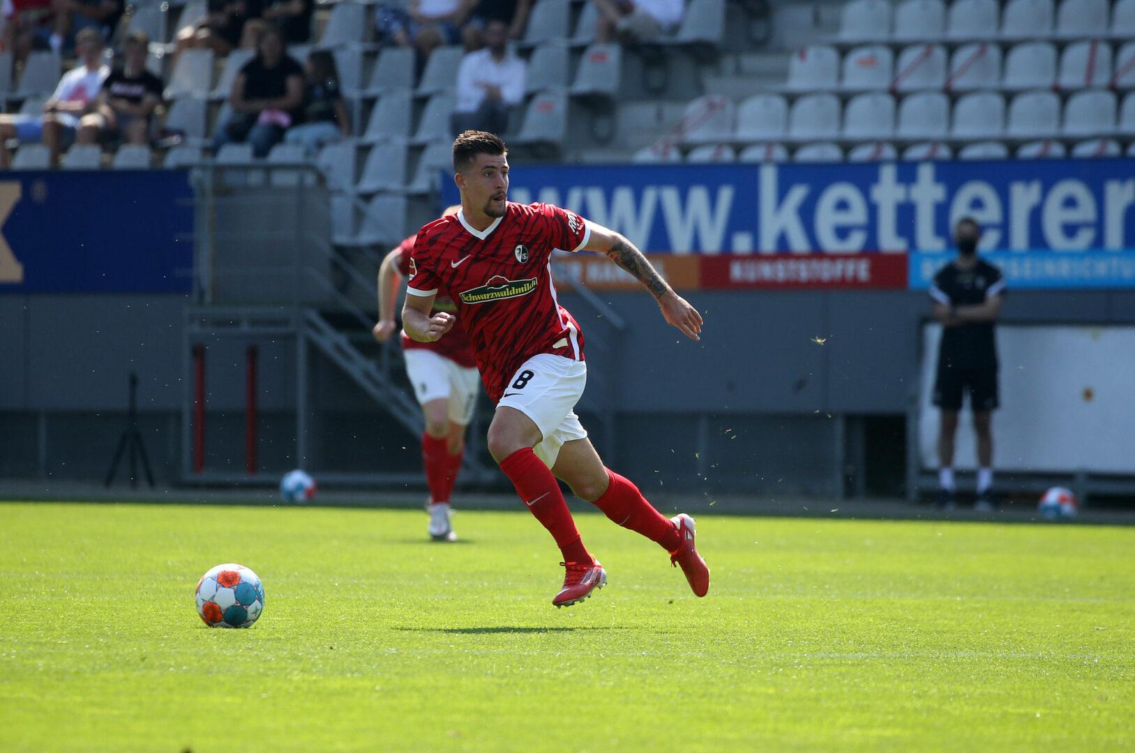 Baptiste Santamaria vom SC Freiburg steht vor einem Wechsel zu Stade Rennais