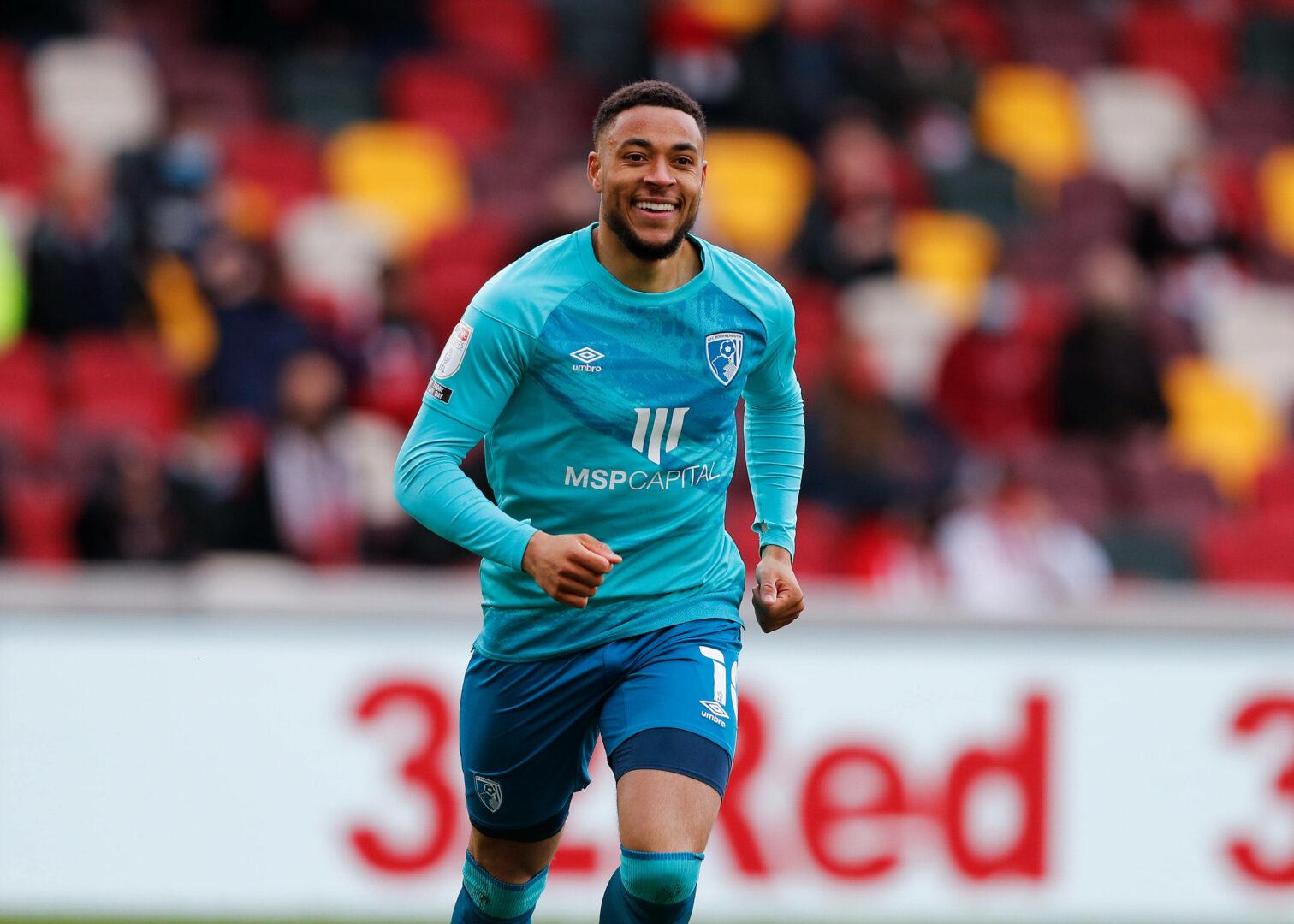 Arnaut Danjuma bejubelt seinen Treffer für den AFC Bournemouth.