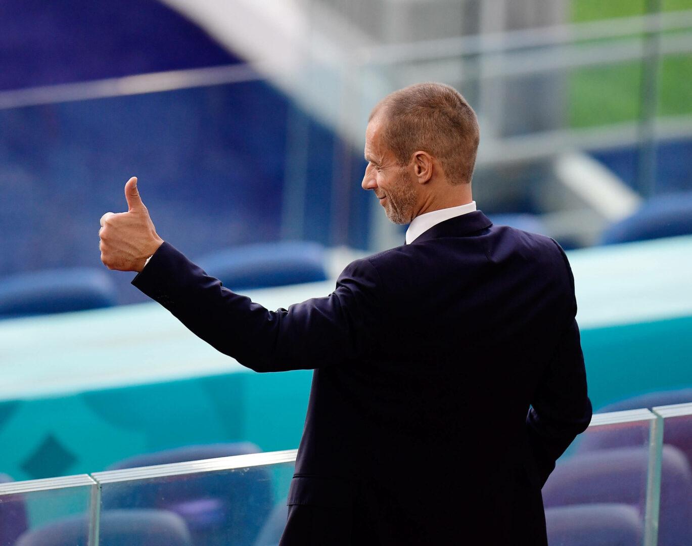 Ceferin (UEFA) bei der EM 2021