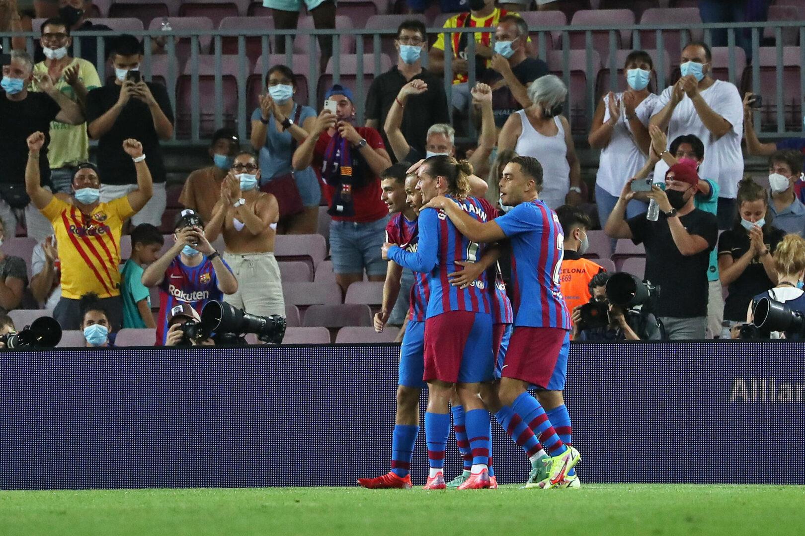 Barcelona jubelt über ein Tor