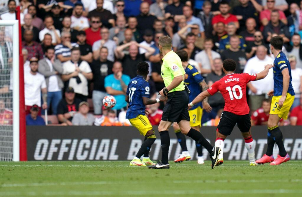Southampton-Stürmer Adams feiert Treffer gegen Manchester United